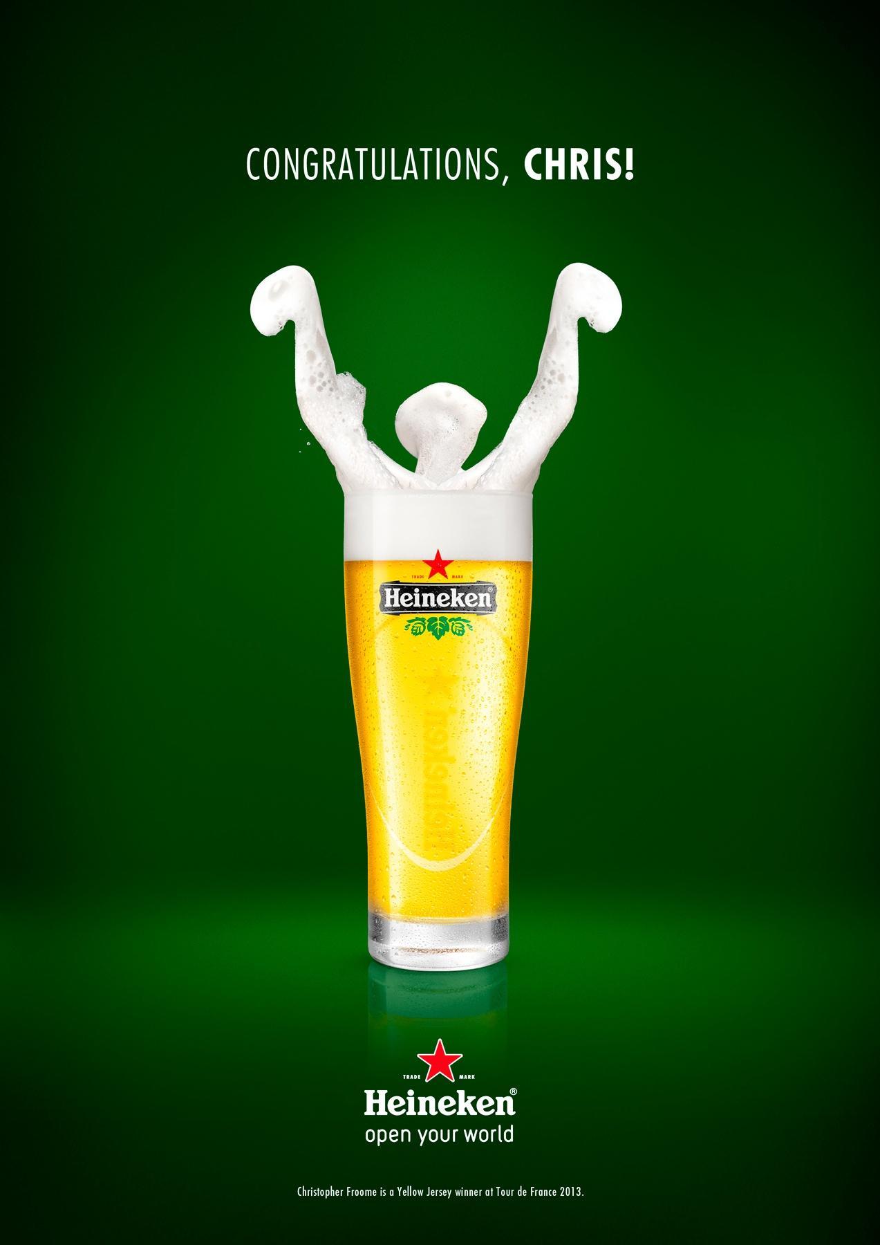 Heineken Print Ad -  Congratulations, Chris!