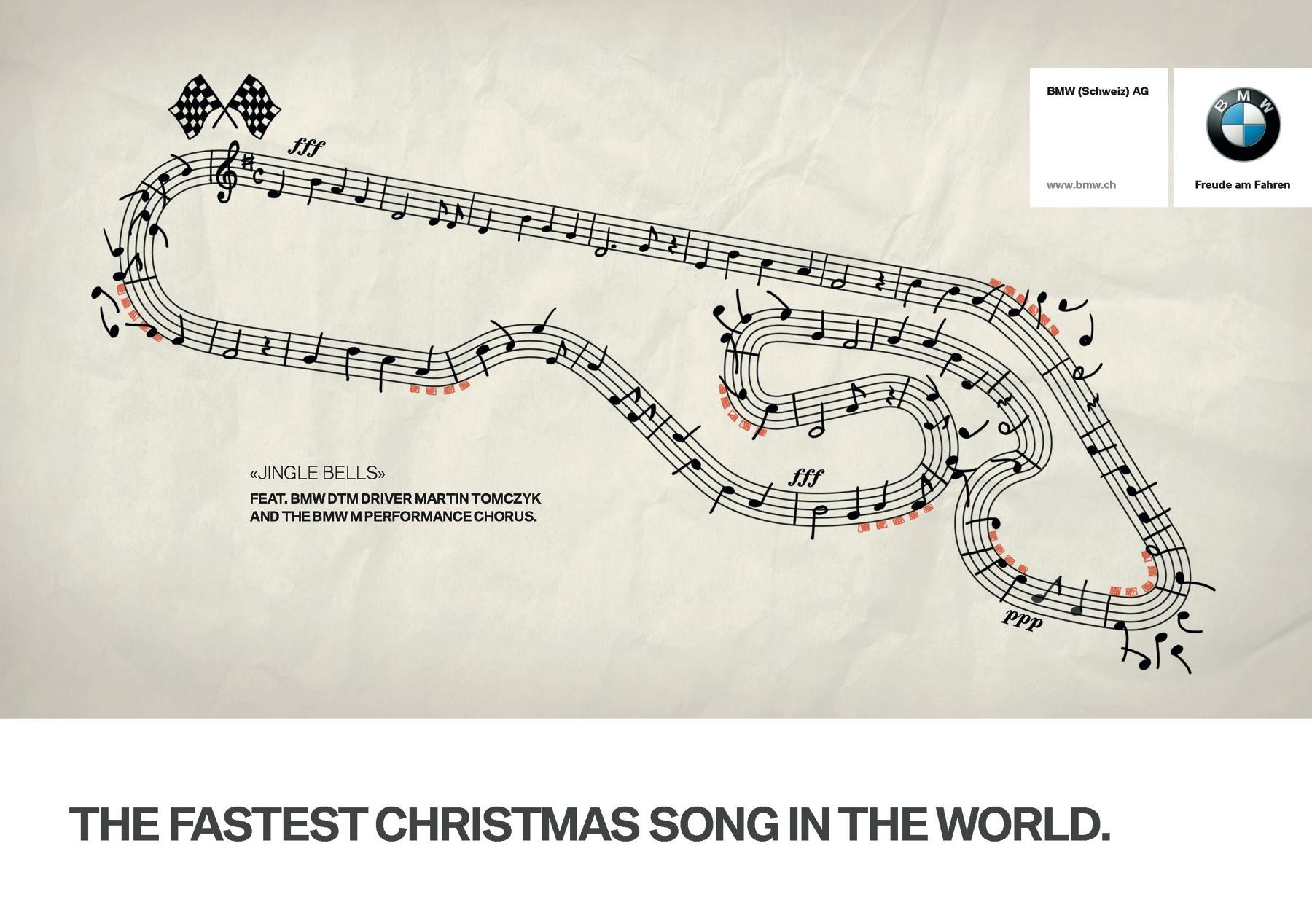 BMW Print Ad -  The Fastest Christmas Song in the World