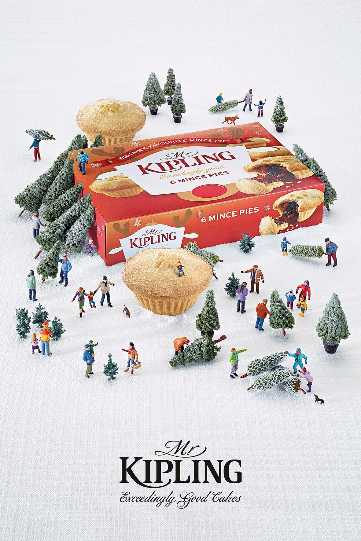 Mr Kipling Print Ad -  Christmas Trees
