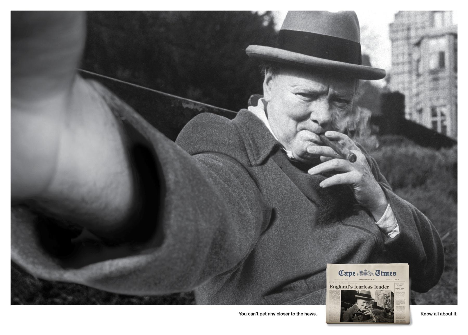 Cape Times Print Ad -  Churchill