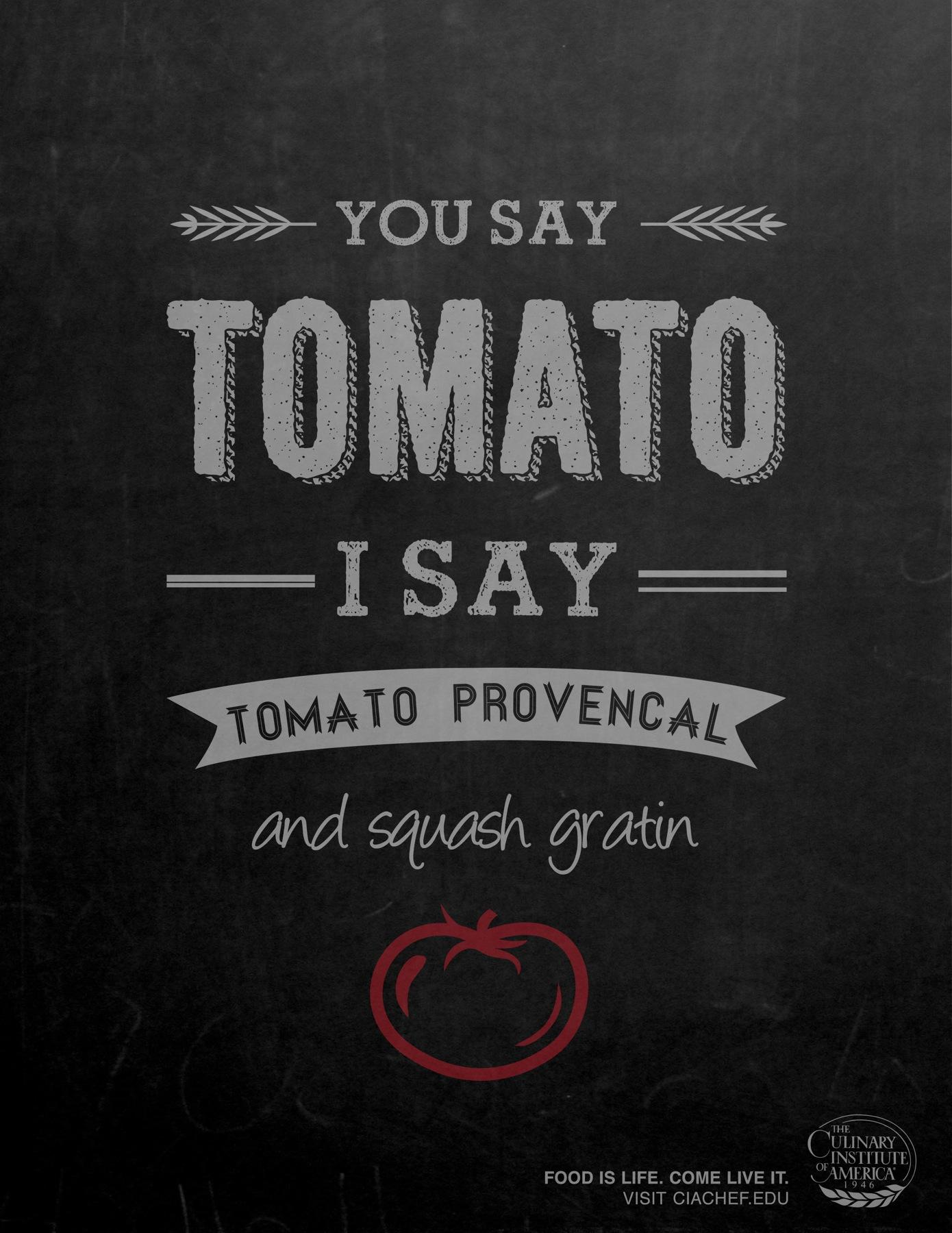 Culinary Institute of America Print Ad -  Tomato