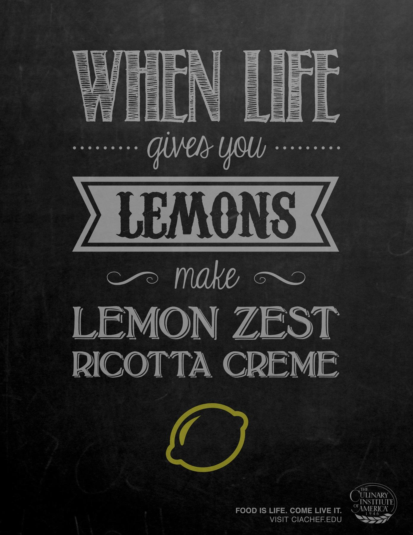 Culinary Institute of America Print Ad -  Lemons