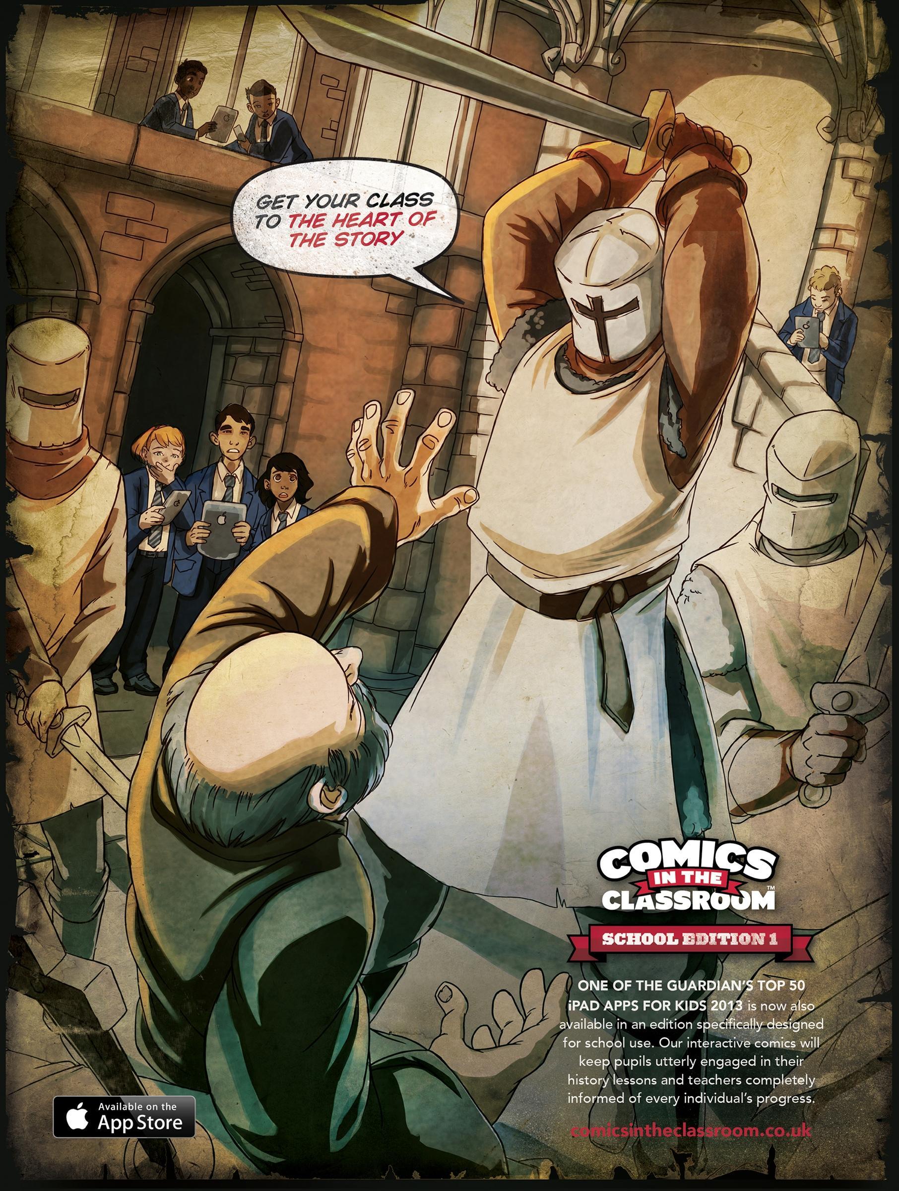 Comics in the Classroom Print Ad -  Becket