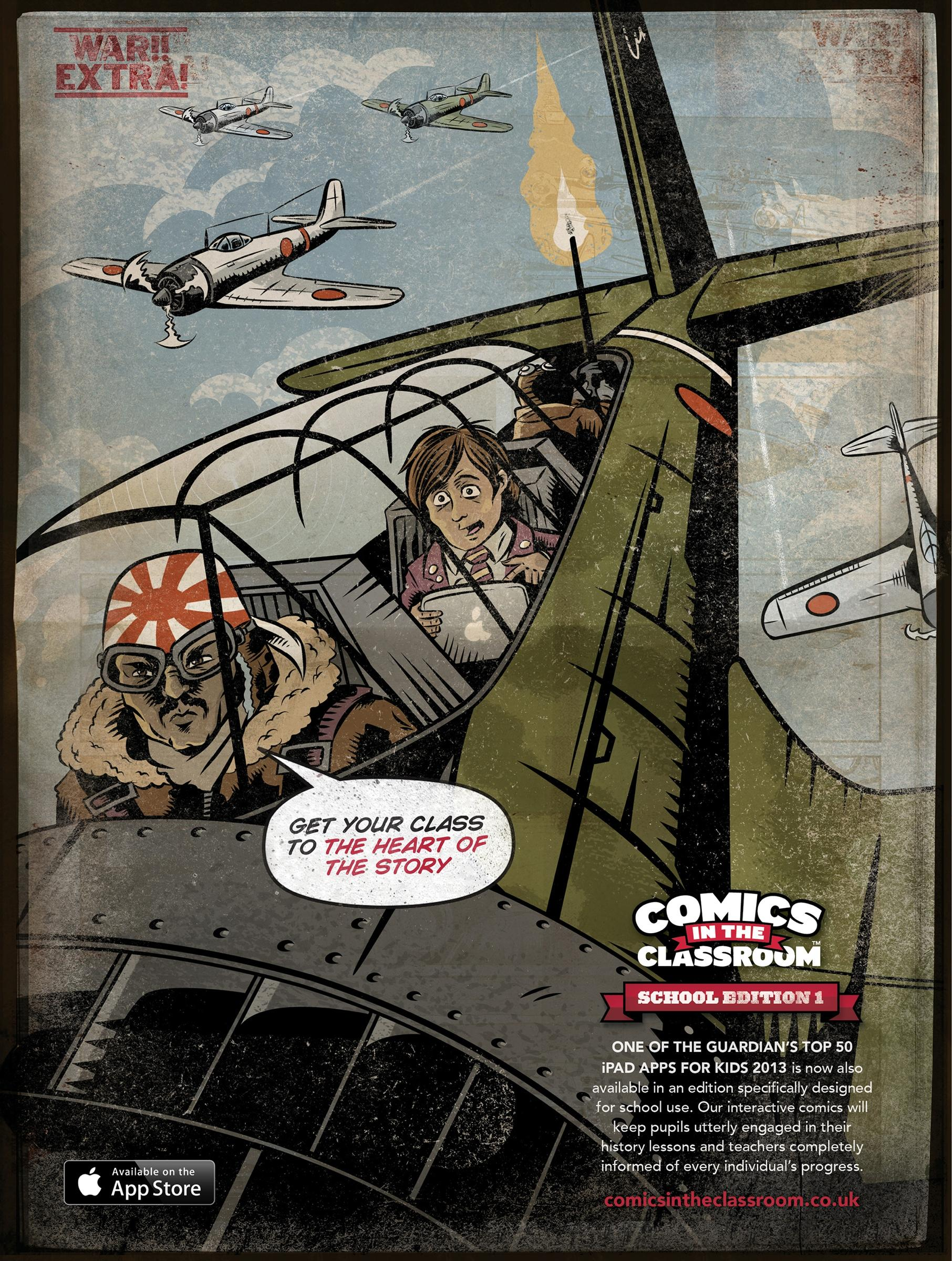 Comics in the Classroom Print Ad -  Pearl Harbor
