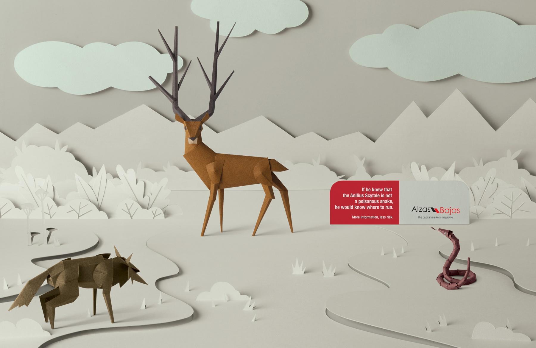 Alzas y Bajas Print Ad -  Deer