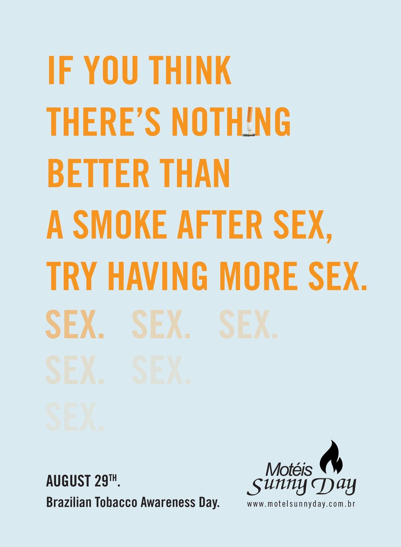 Sunny Day Motels Print Ad -  Cigarette Sex, 1