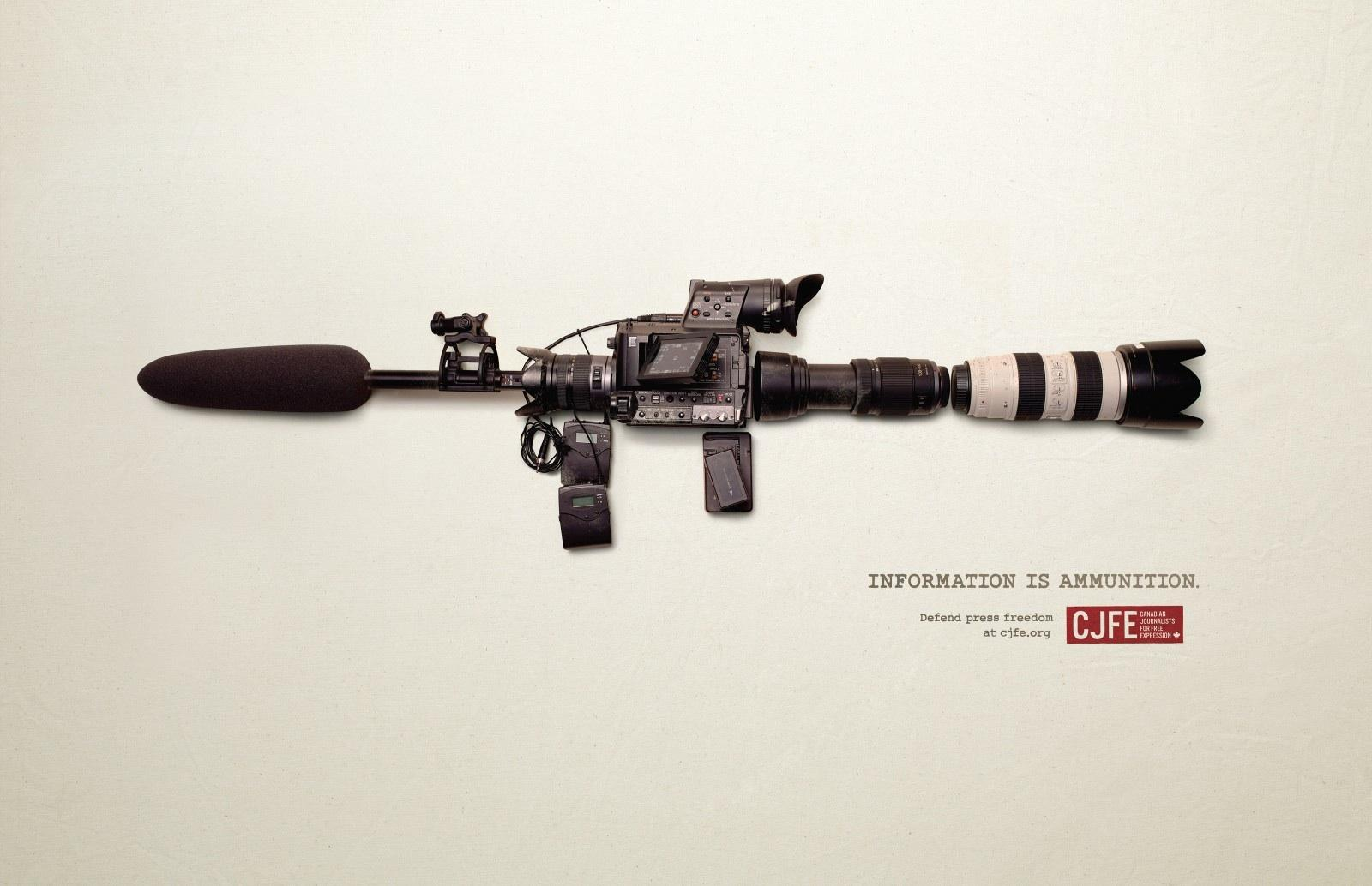 Canadian Journalists for Free Expression Print Ad -  Defend press freedom, 3