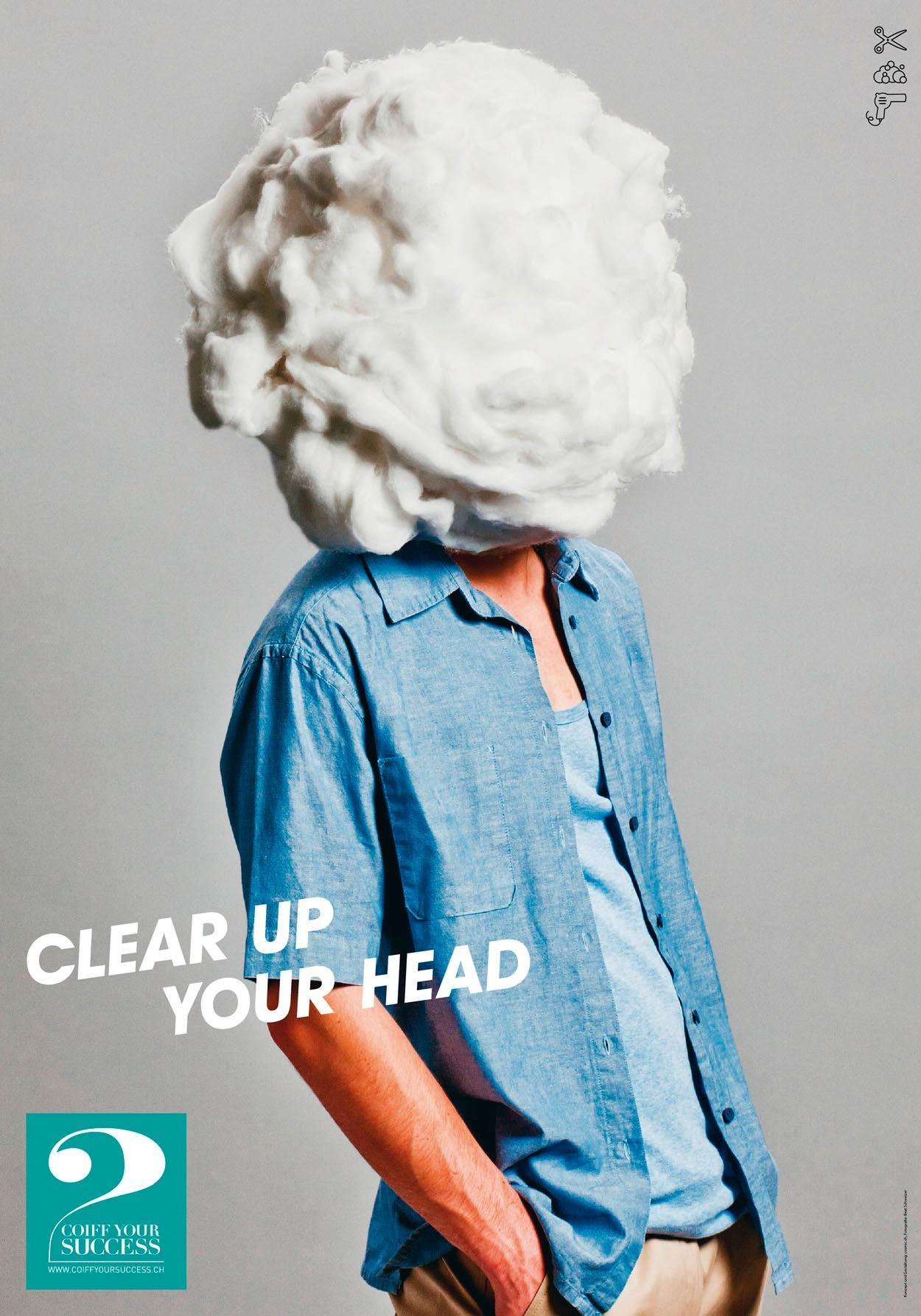 Coiff Your Success Print Ad -  Clear up your head