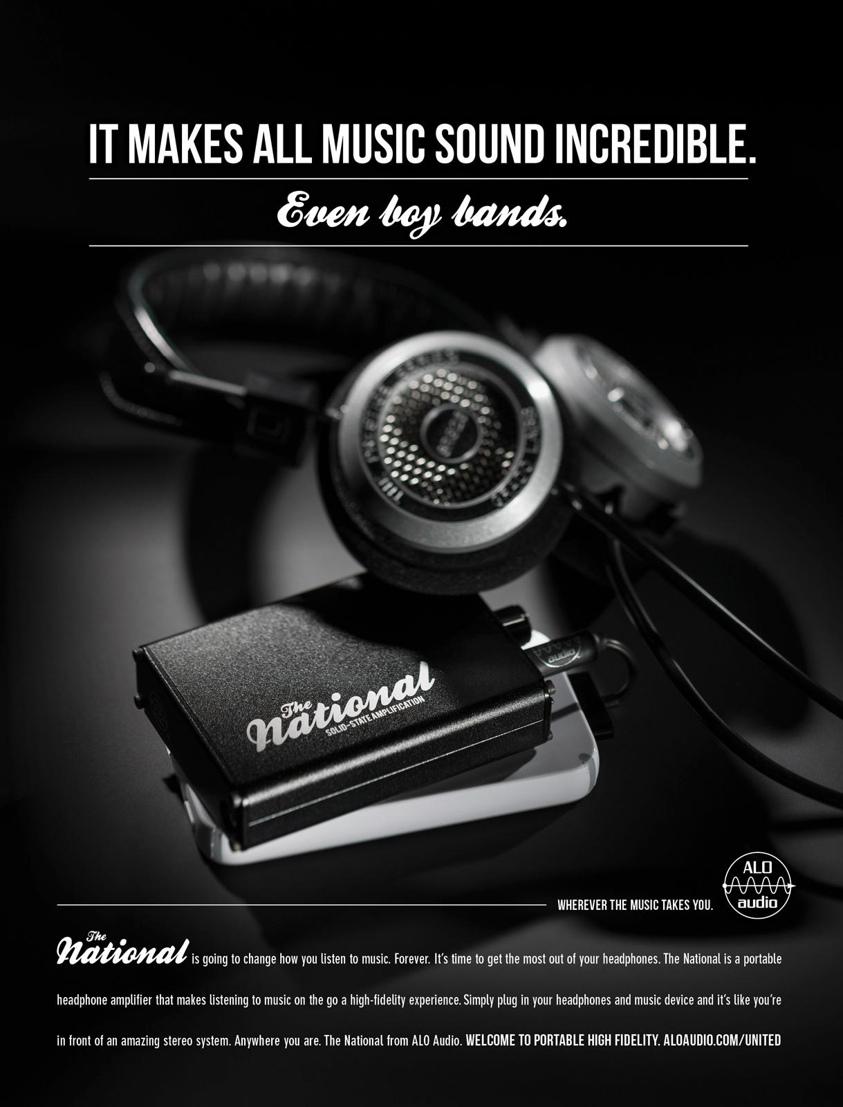ALO Audio Print Ad -  Boy Bands