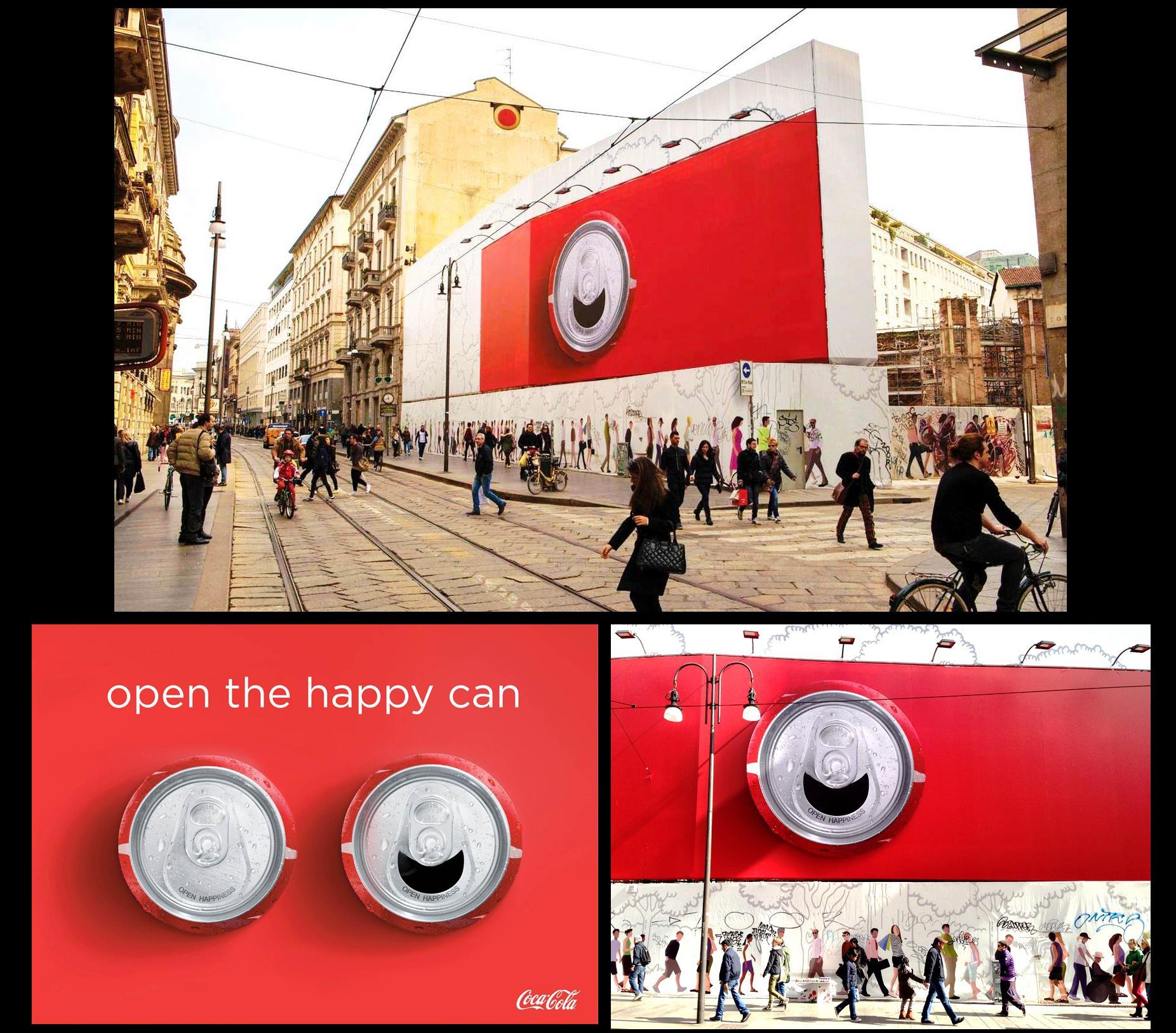 Coca-Cola Outdoor Ad -  Happy Can