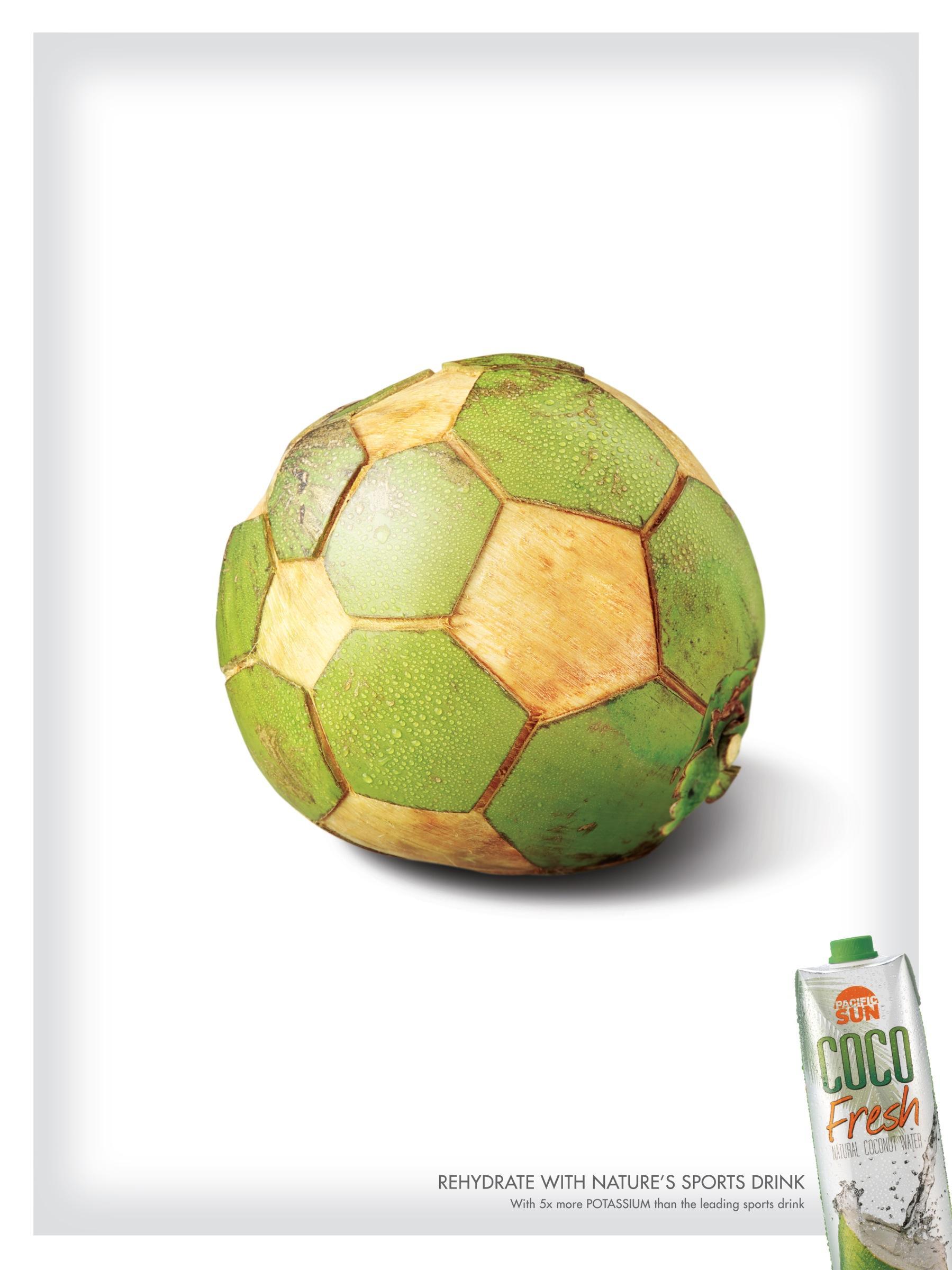 Coco Fresh Print Ad -  Soccer ball
