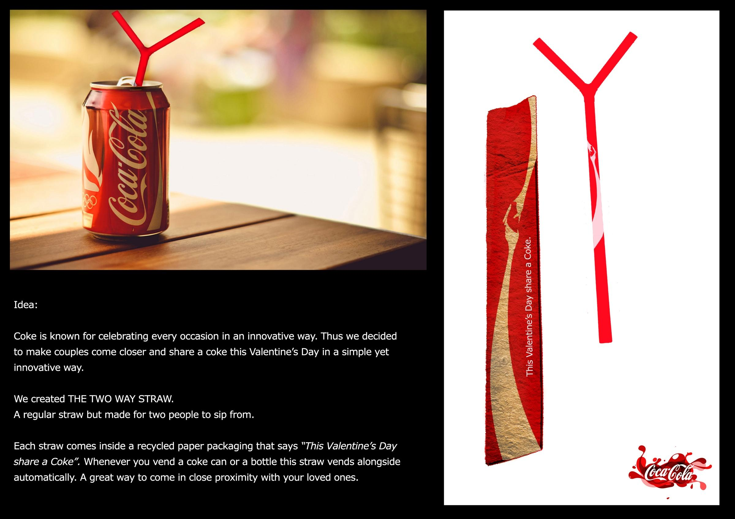 Coca-Cola Direct Ad -  Two Way Straw