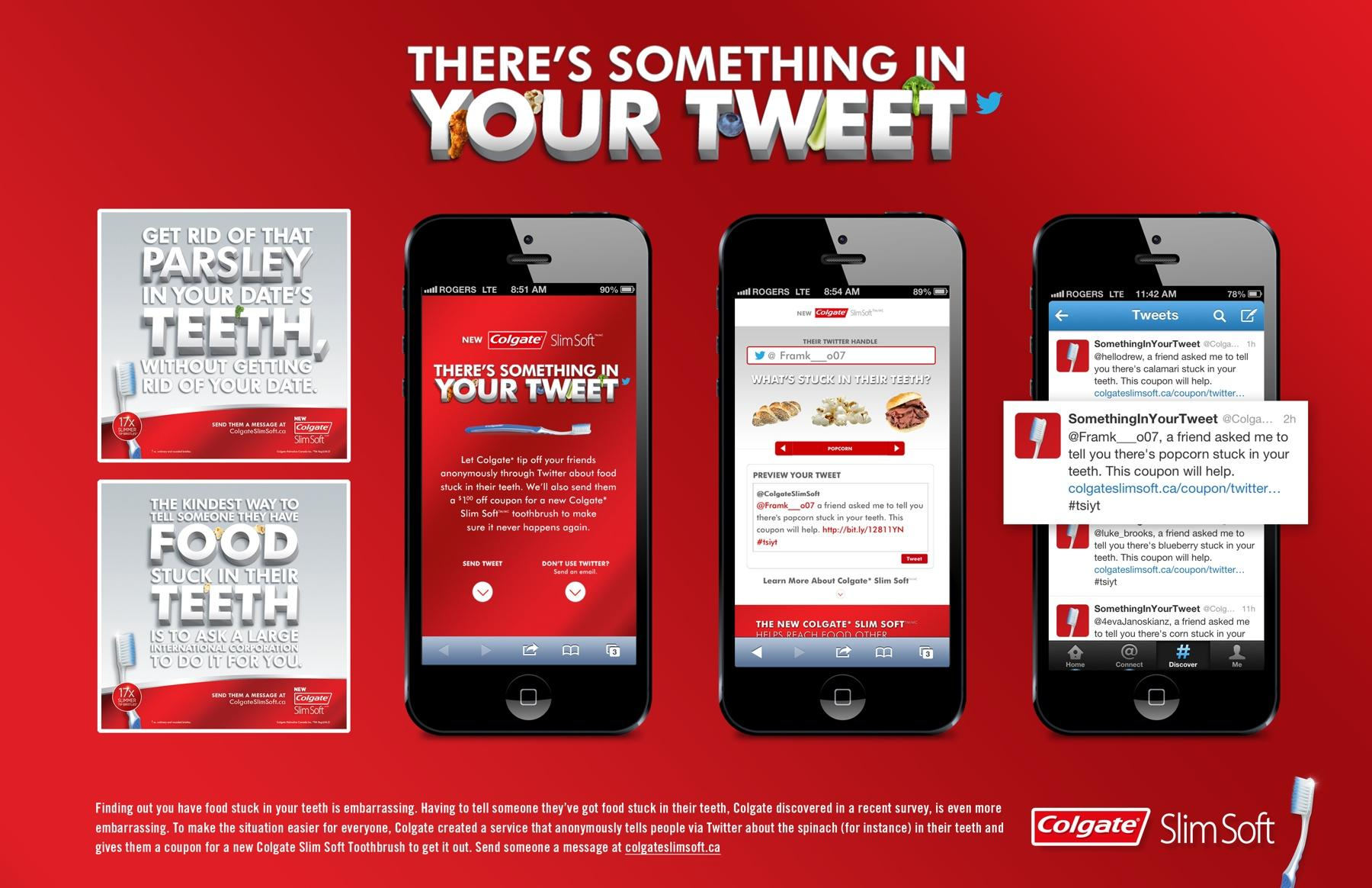 Colgate Digital Ad -  There's something in your tweet