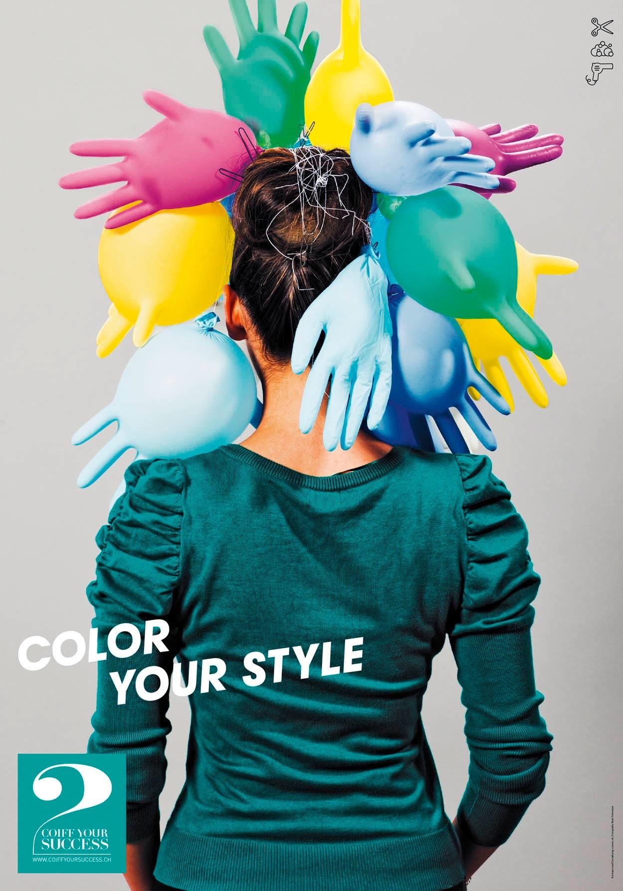 Coiff Your Success Print Ad -  Color your style
