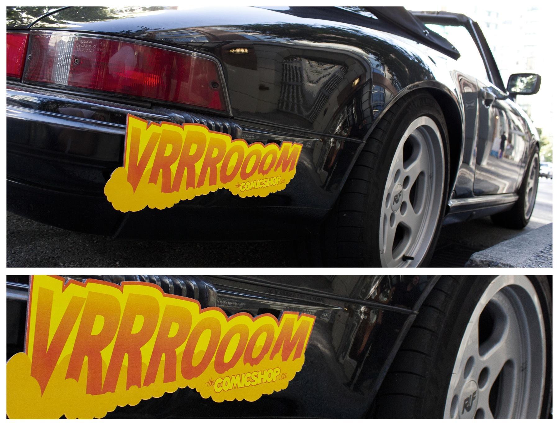 Comic Shop Print Ad -  Vrrrooom