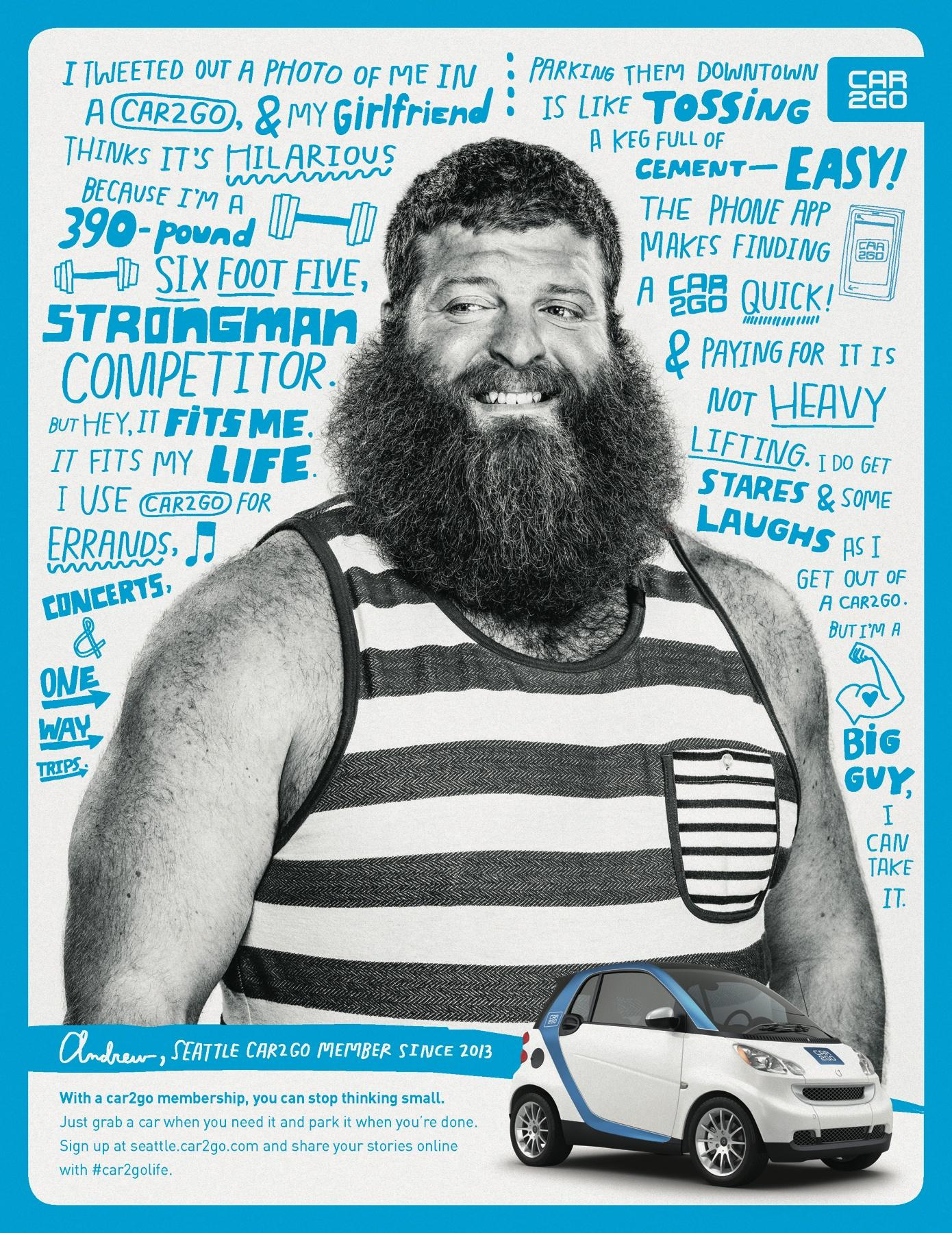 car2go Print Ad -  Andrew