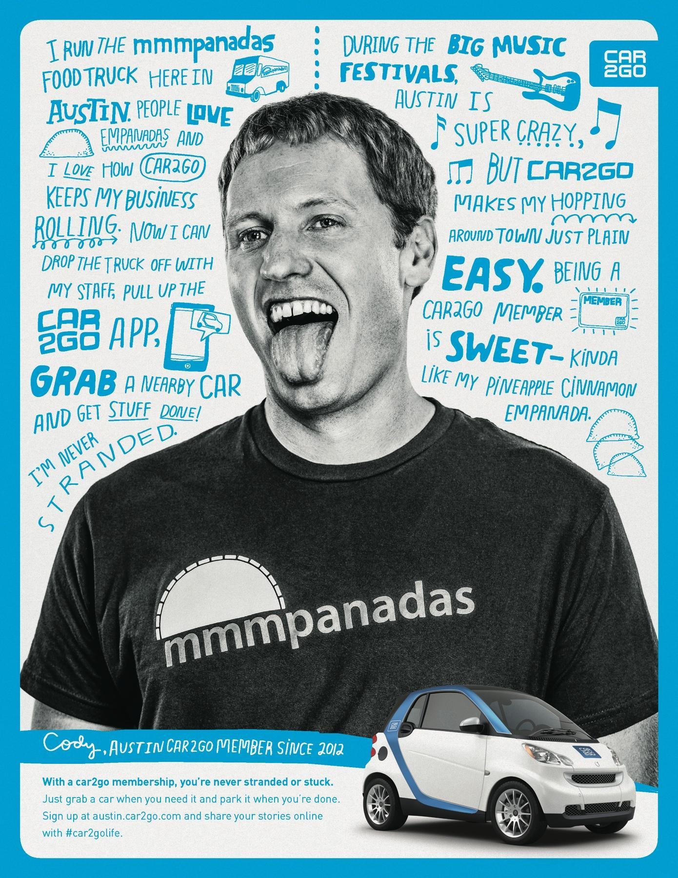 car2go Print Ad -  Cody