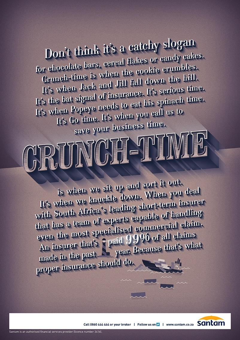 Santam Print Ad -  Cookie Crumbles