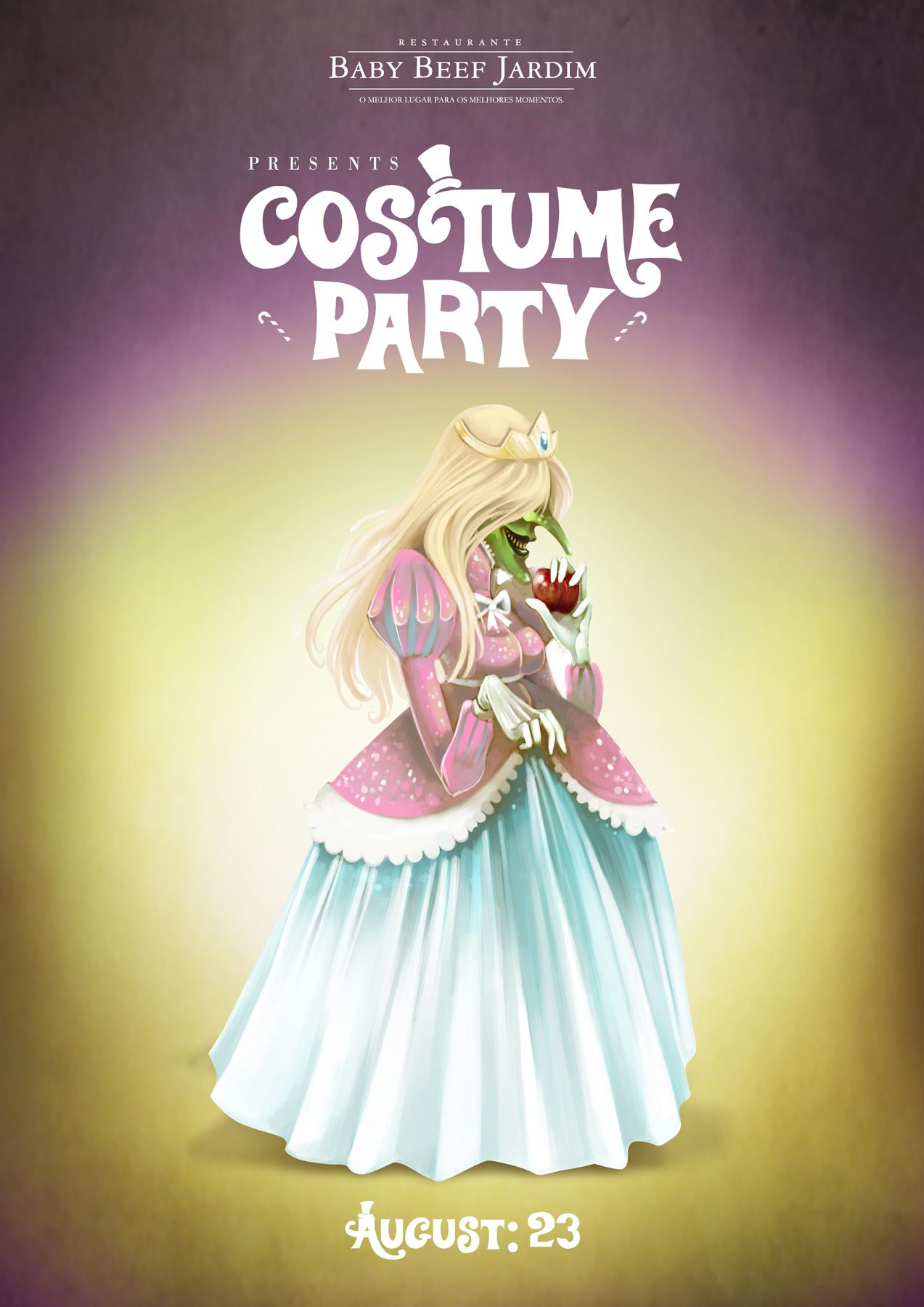 Baby Beef Jardim Print Ad -  Costume Party, Witch