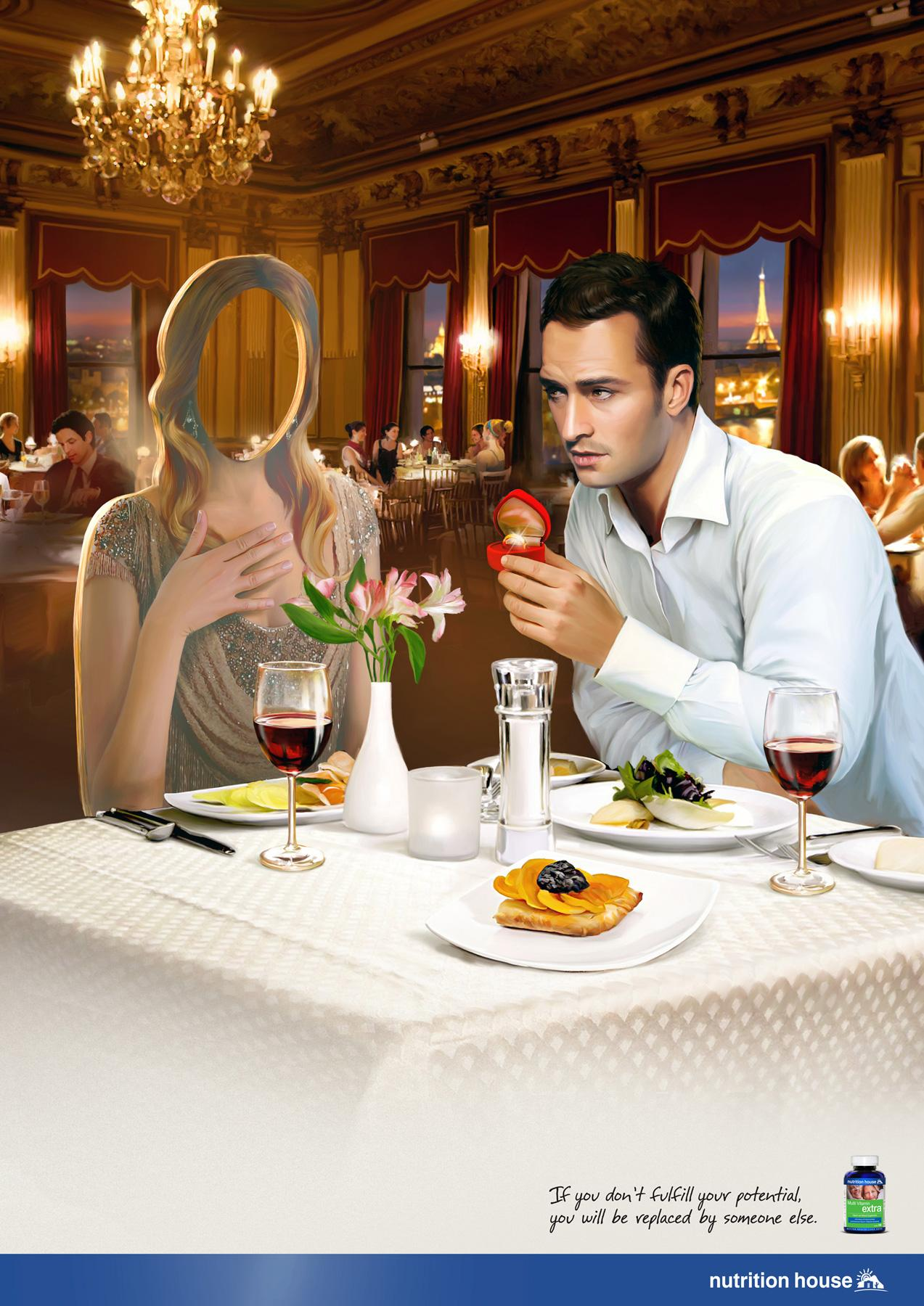 Nutrition House Print Ad -  Restaurant