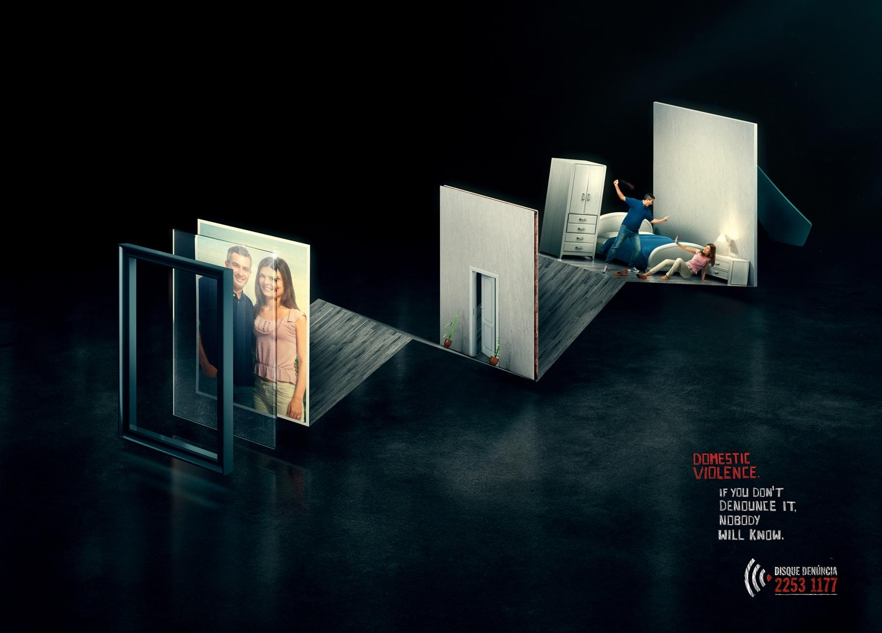 Disque-Denúncia Print Ad -  Domestic Violence, Couple