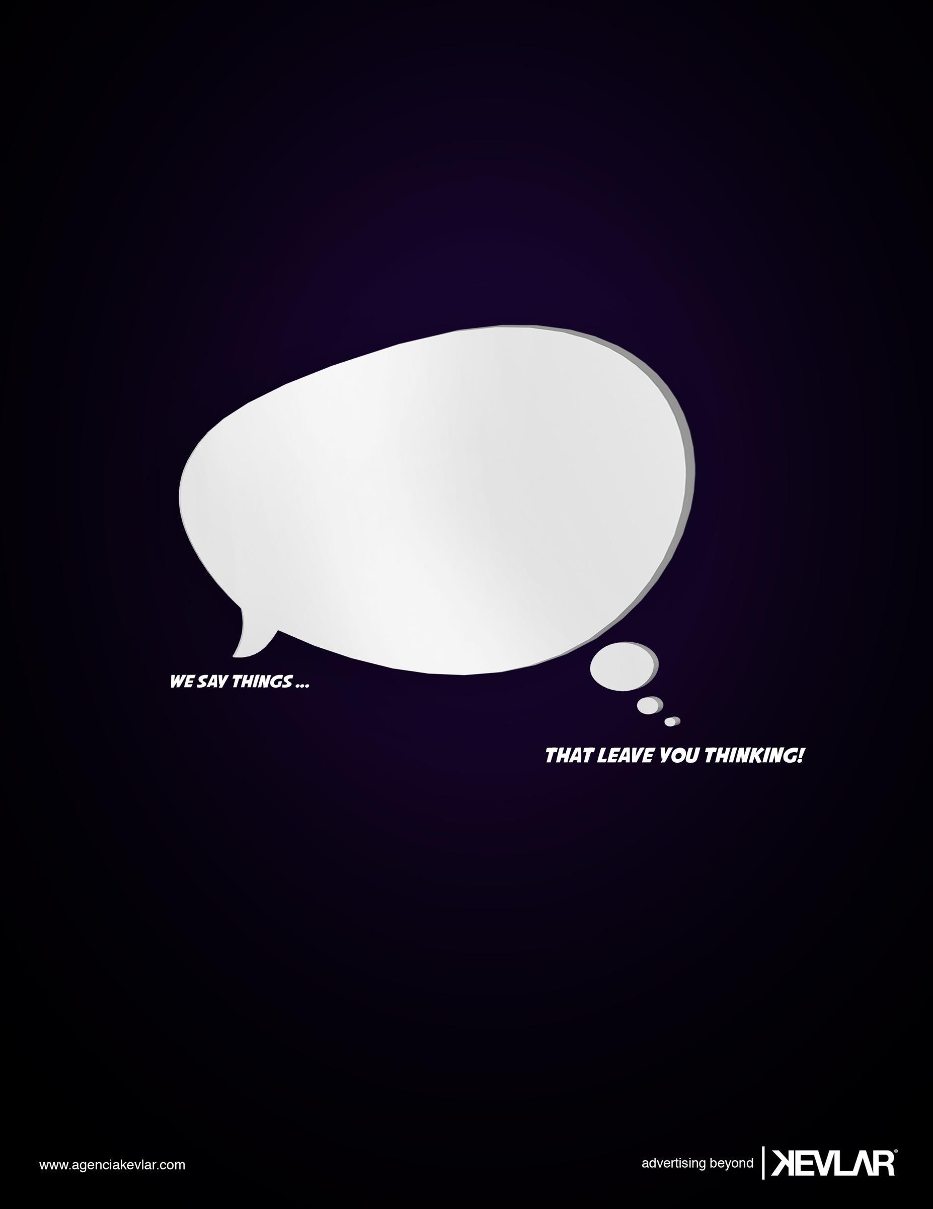 Kevlar Print Ad -  Bubble