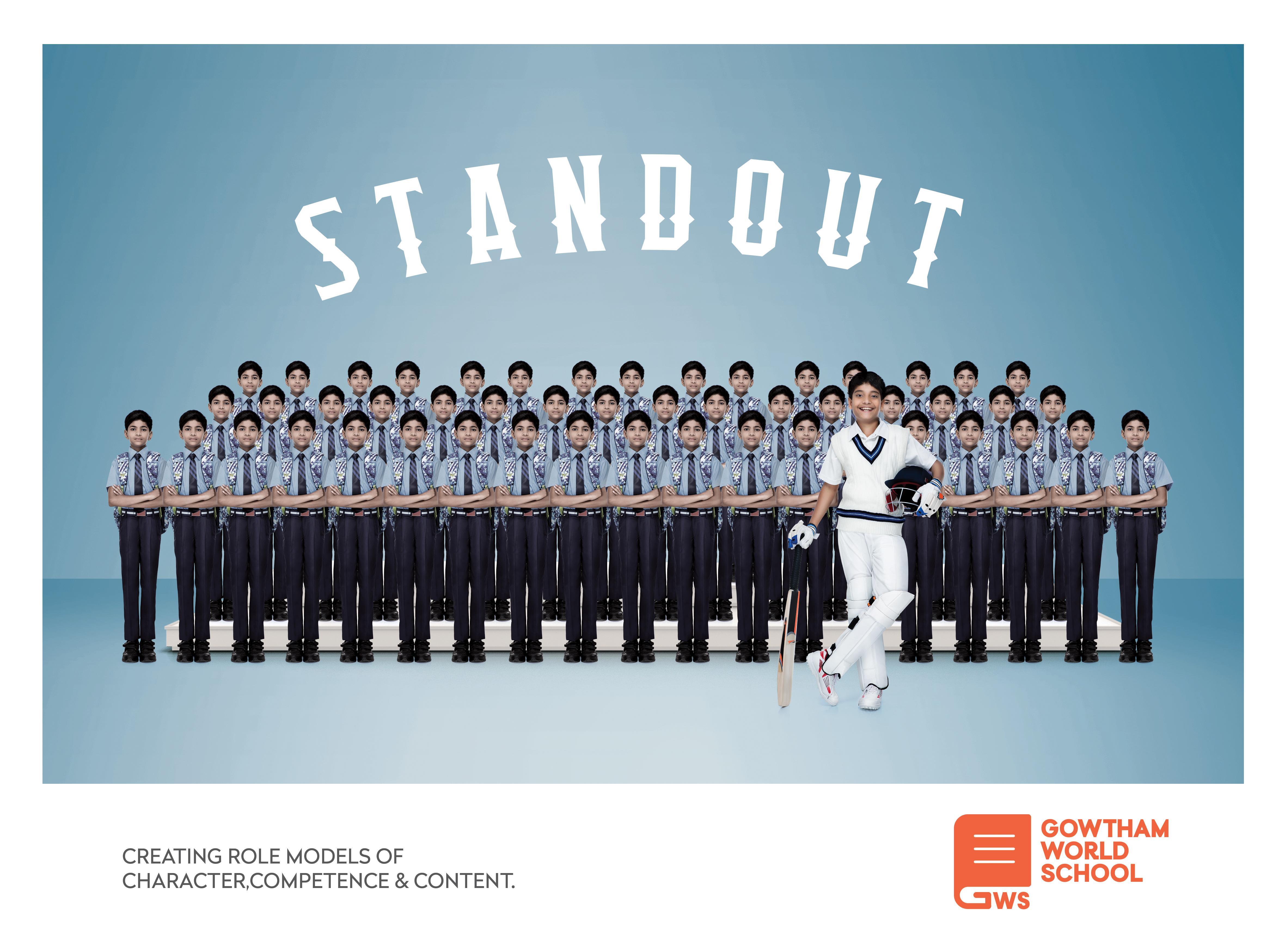 Gowtham World School Print Ad - Cricketer