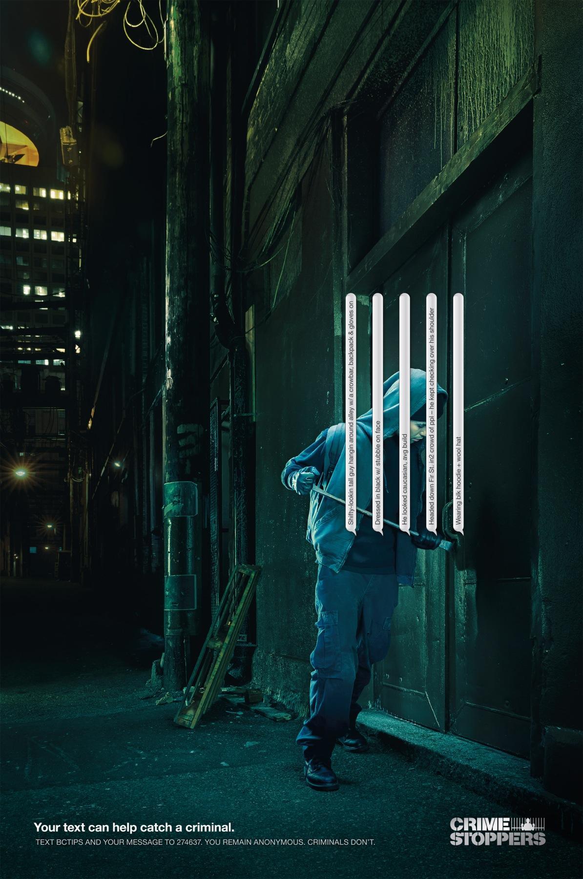 Crime Stoppers Print Ad -  Break & Enter