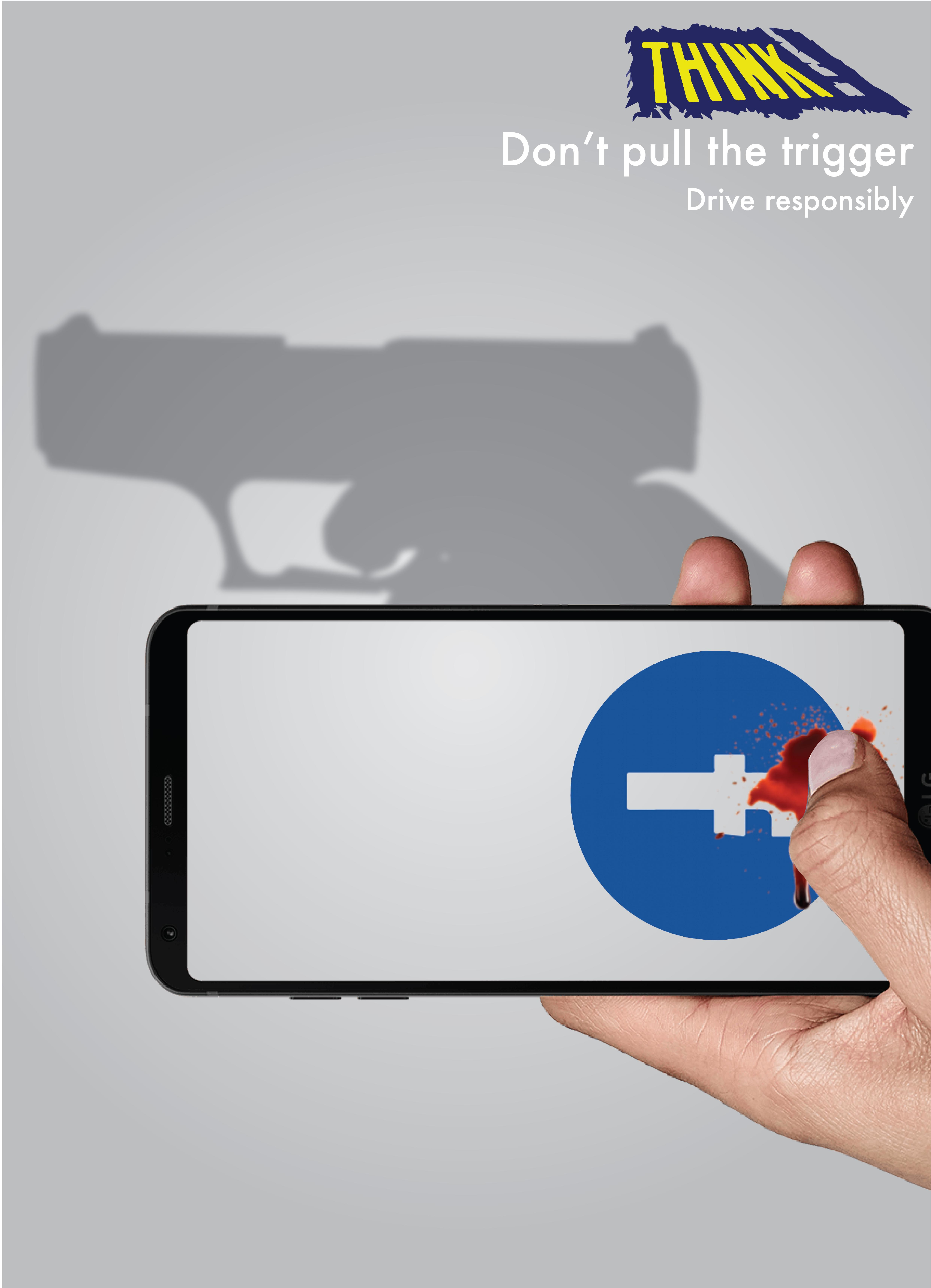 Think! Print Ad - Crime Weapon, 2