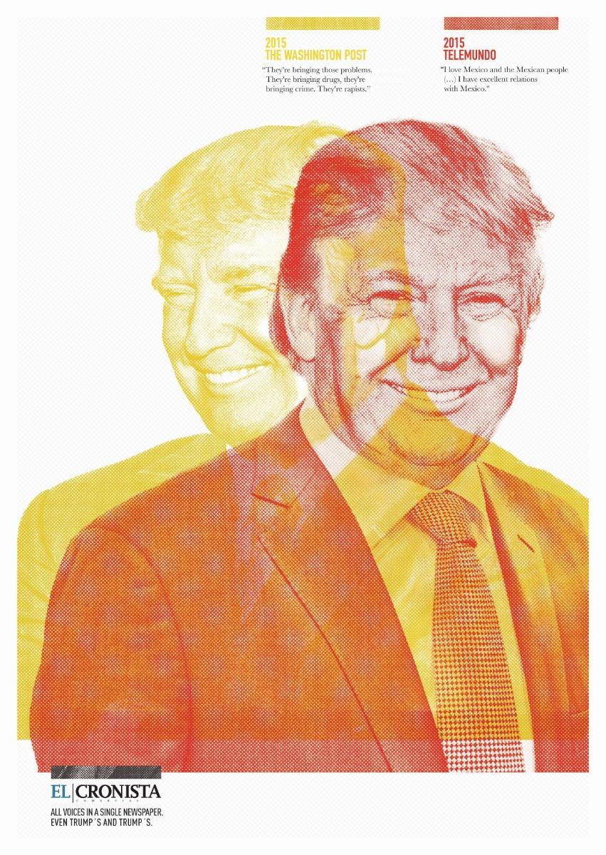 El Cronista Print Ad - Trump
