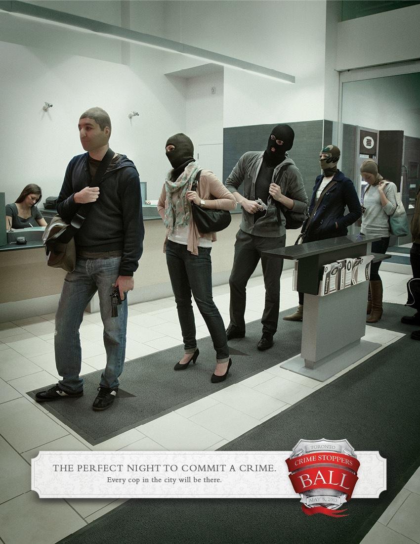 Toronto Crime Stoppers Print Ad -  Bank