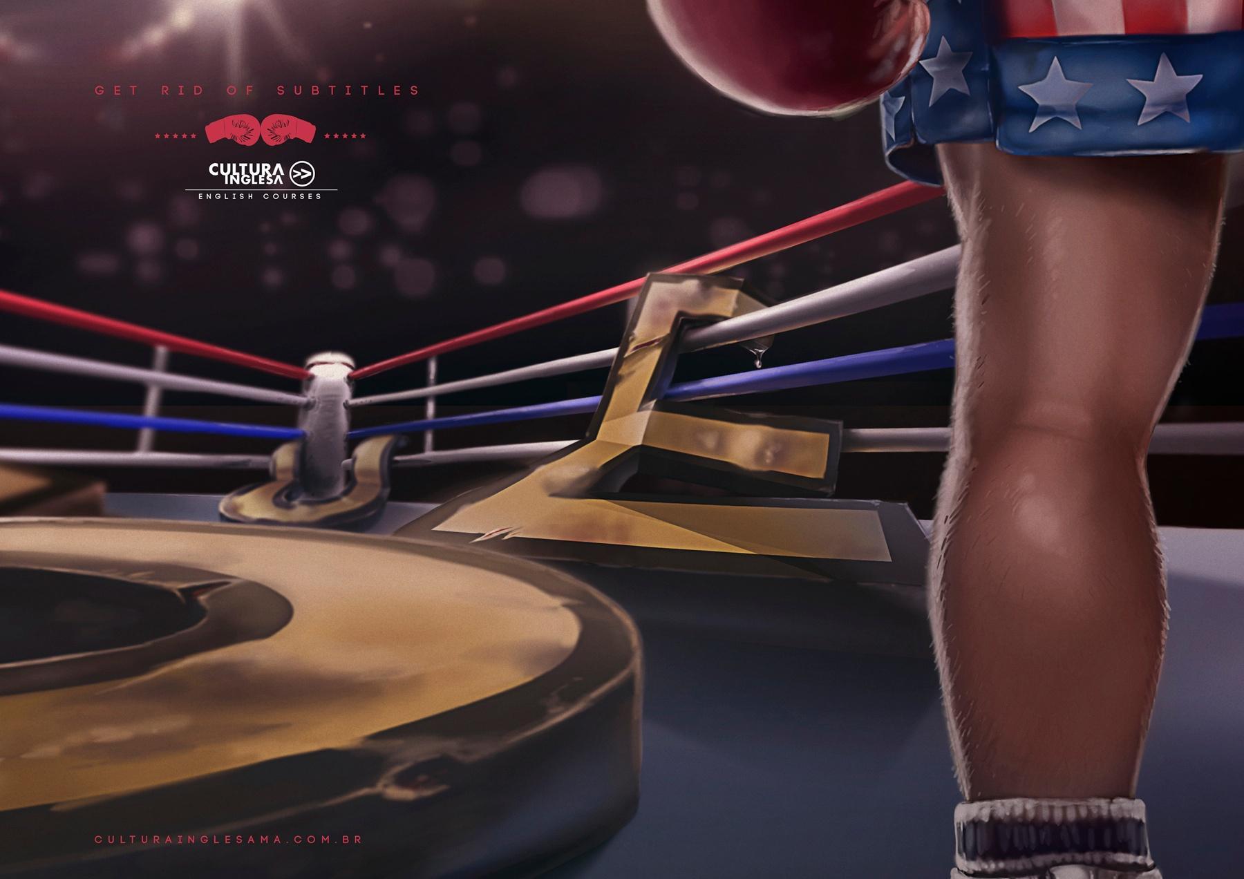 Cultura Inglesa Print Ad -  Rocky