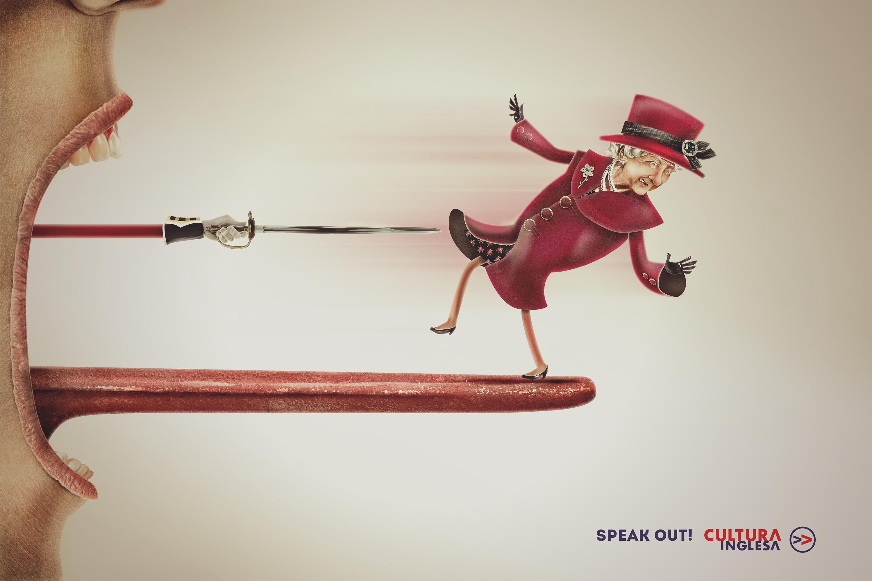 Cultura Inglesa Print Ad - Rainha