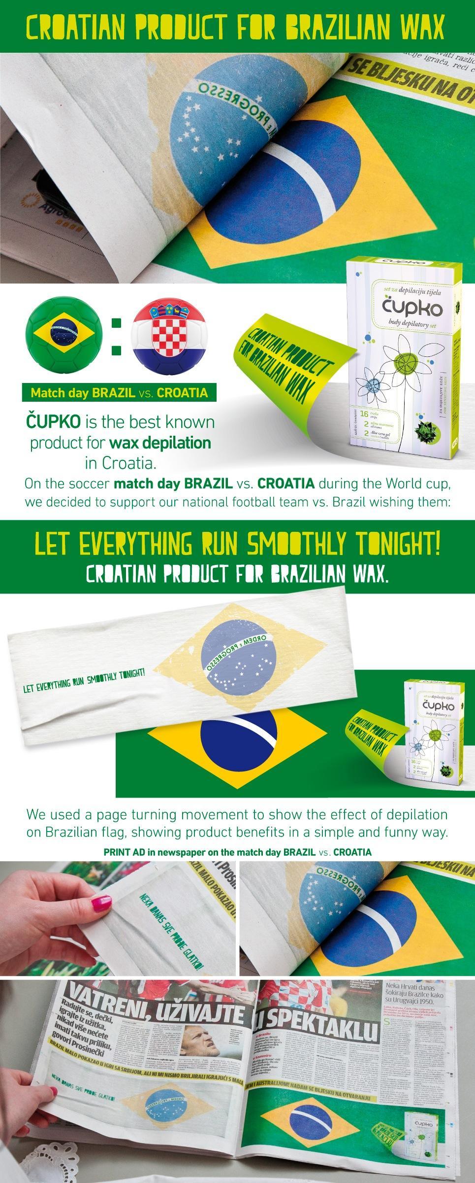 Cupko Print Ad -  Croatian product for Brazilian wax