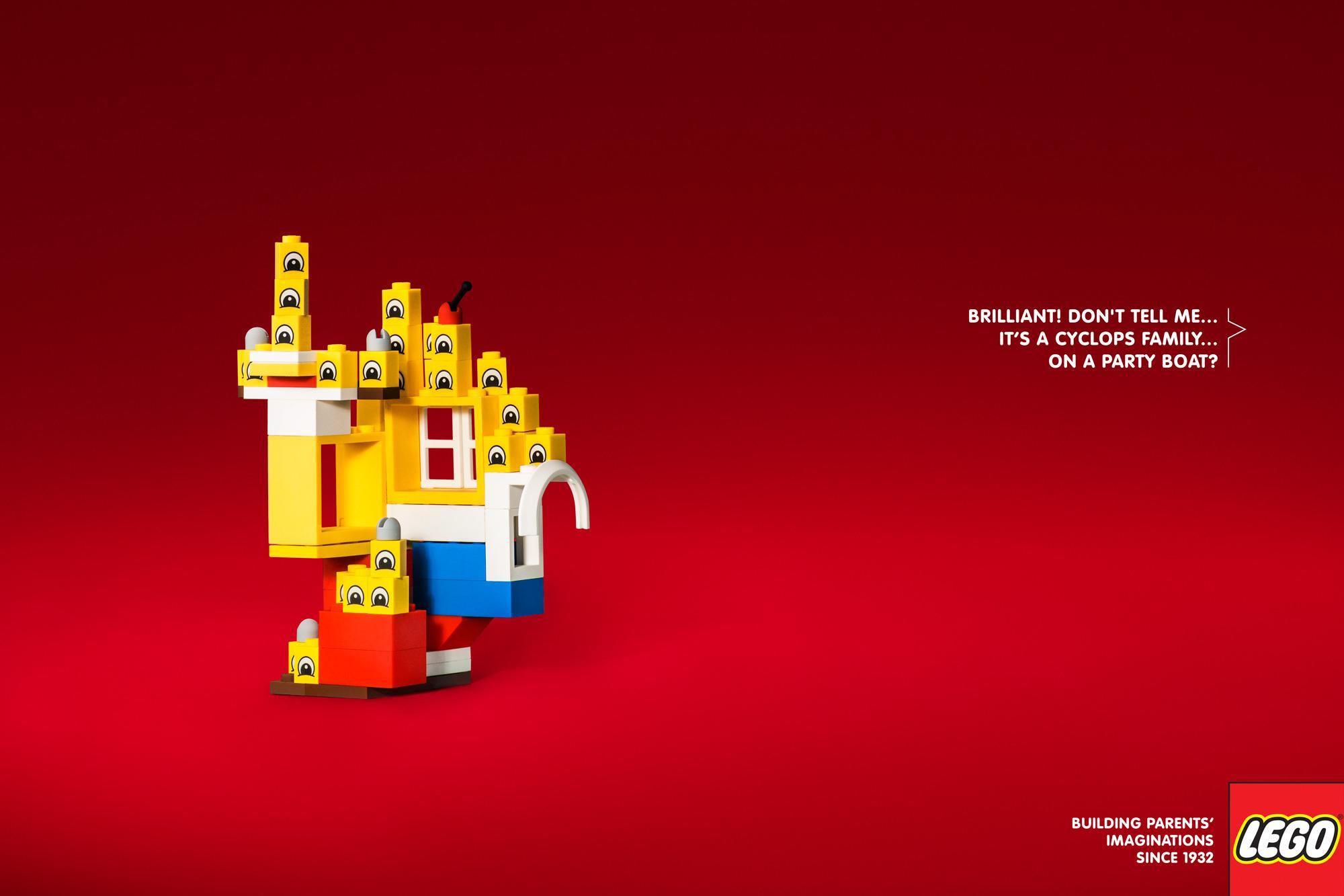 Lego Print Ad - Cyclops Family
