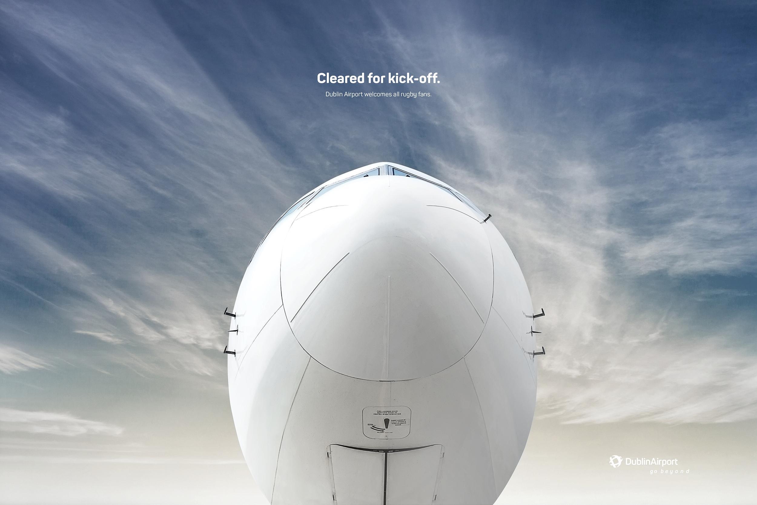 Dublin Airport Print Ad - Kick-off