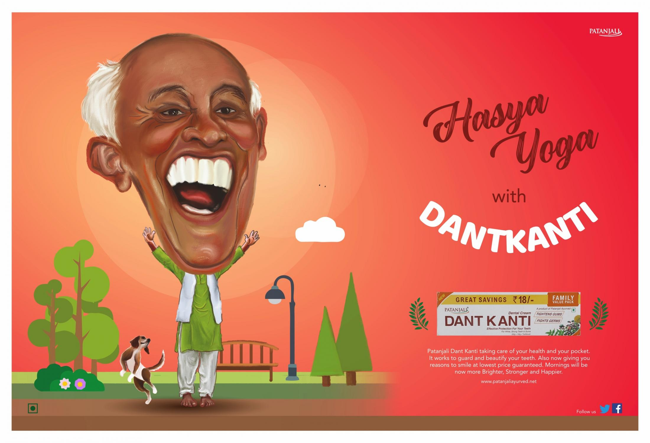 Patanjali Dant Kanti Print Ad - Why Just Smile When You Can Laugh