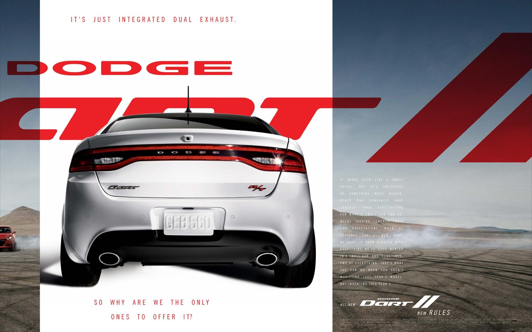 Dodge Print Ad -  White