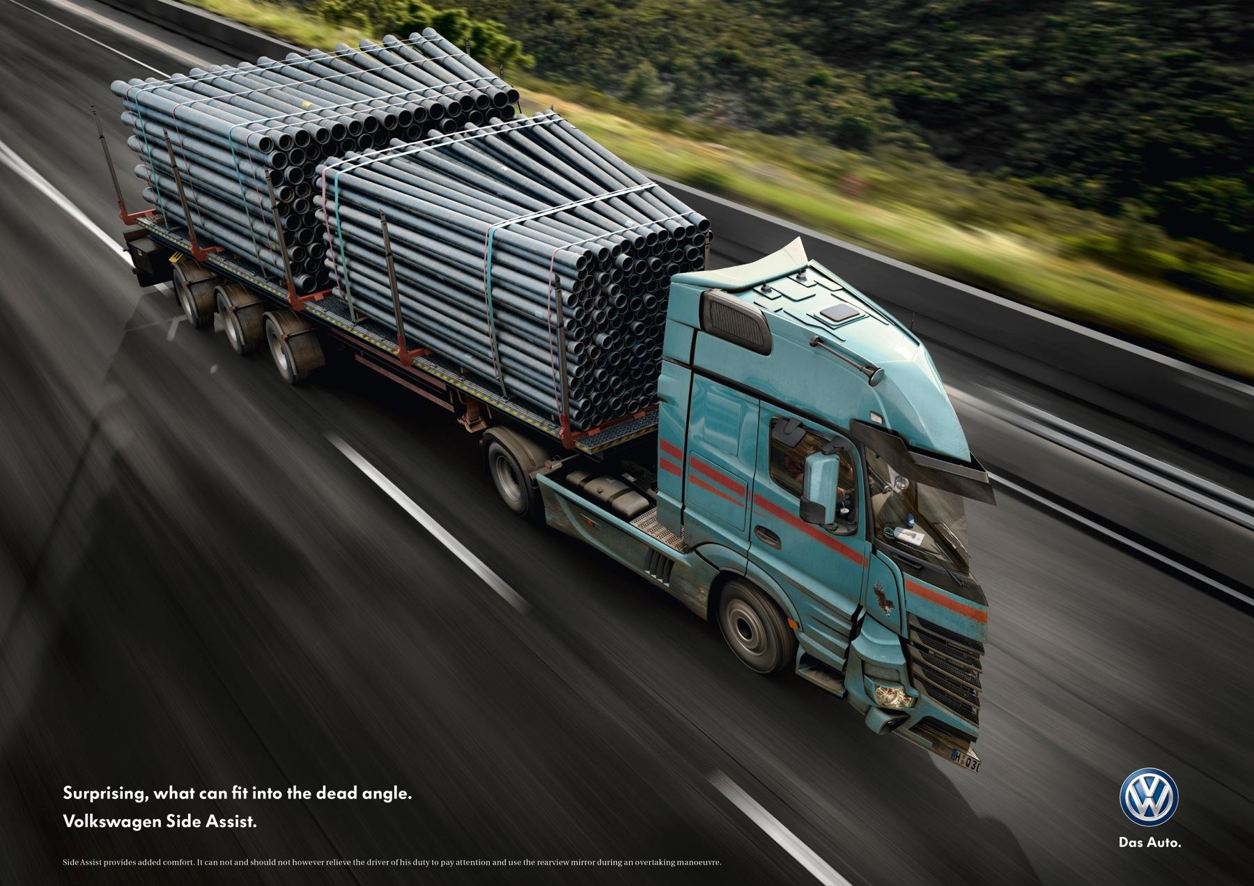 Volkswagen Print Ad -  Dead Angle Truck, 3
