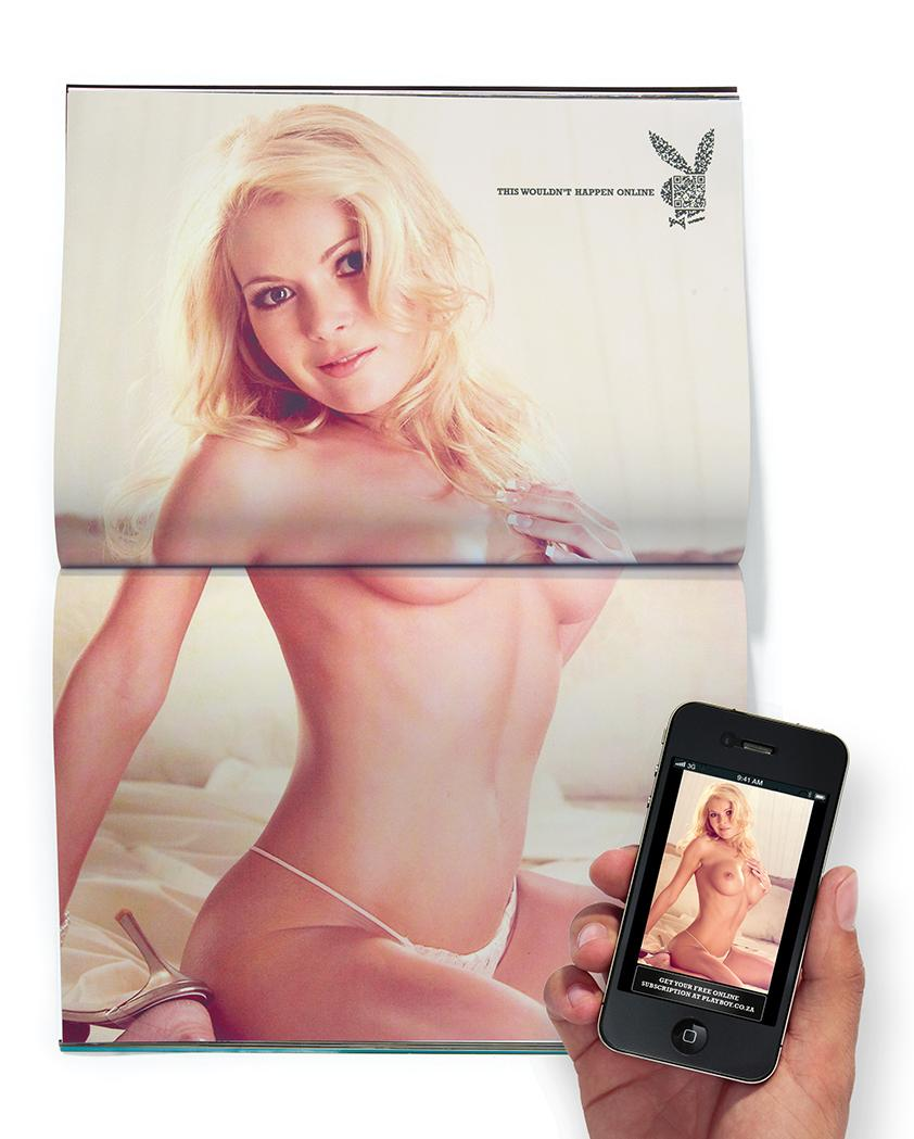 Playboy Print Ad -  Debbie Before and After