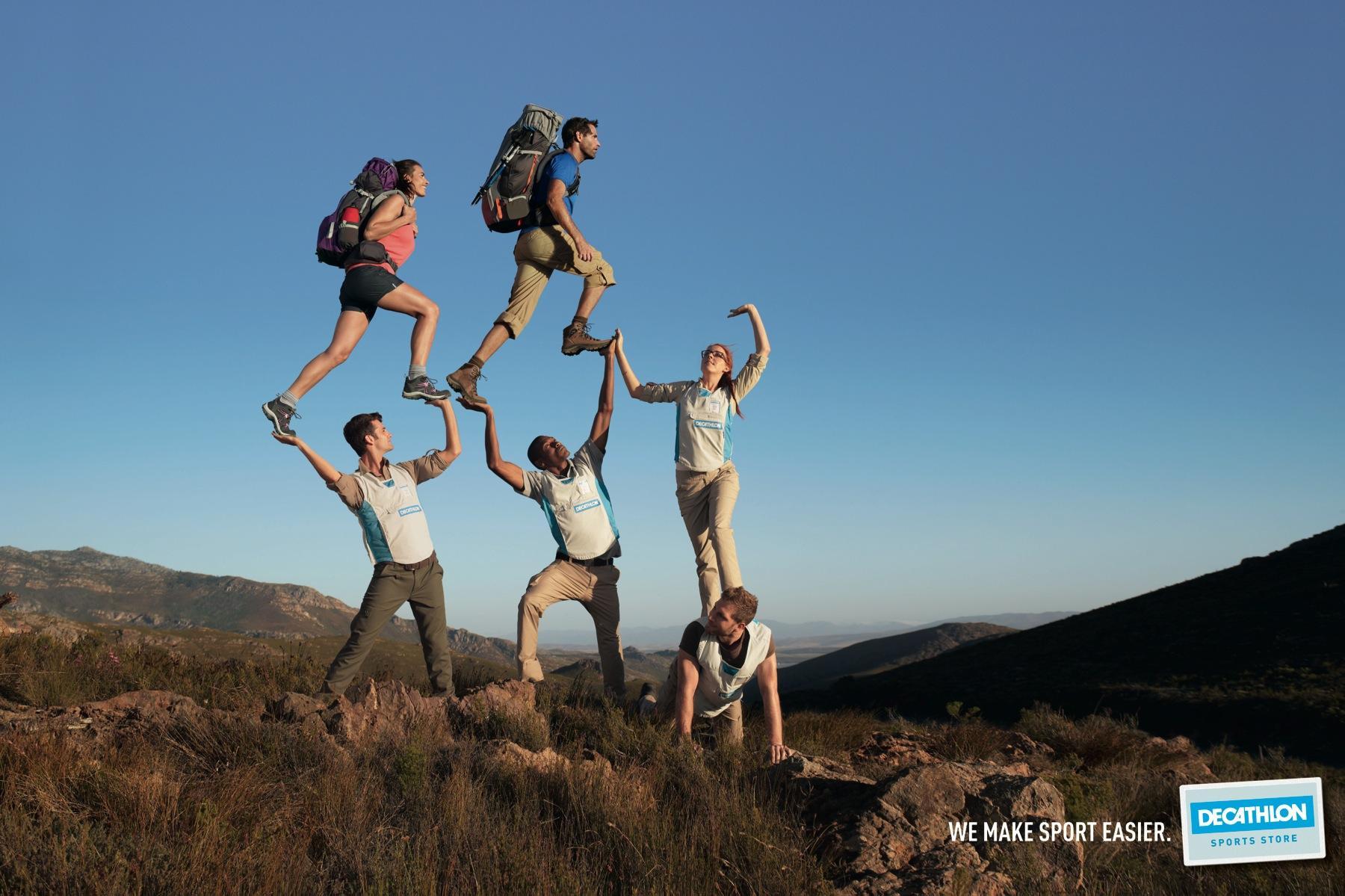 Decathlon Print Advert By BETC: Hiking