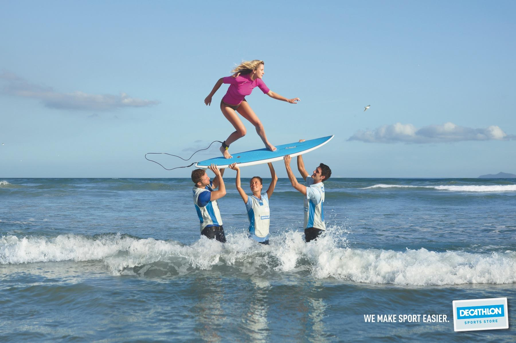 Decathlon Print Ad -  Surf