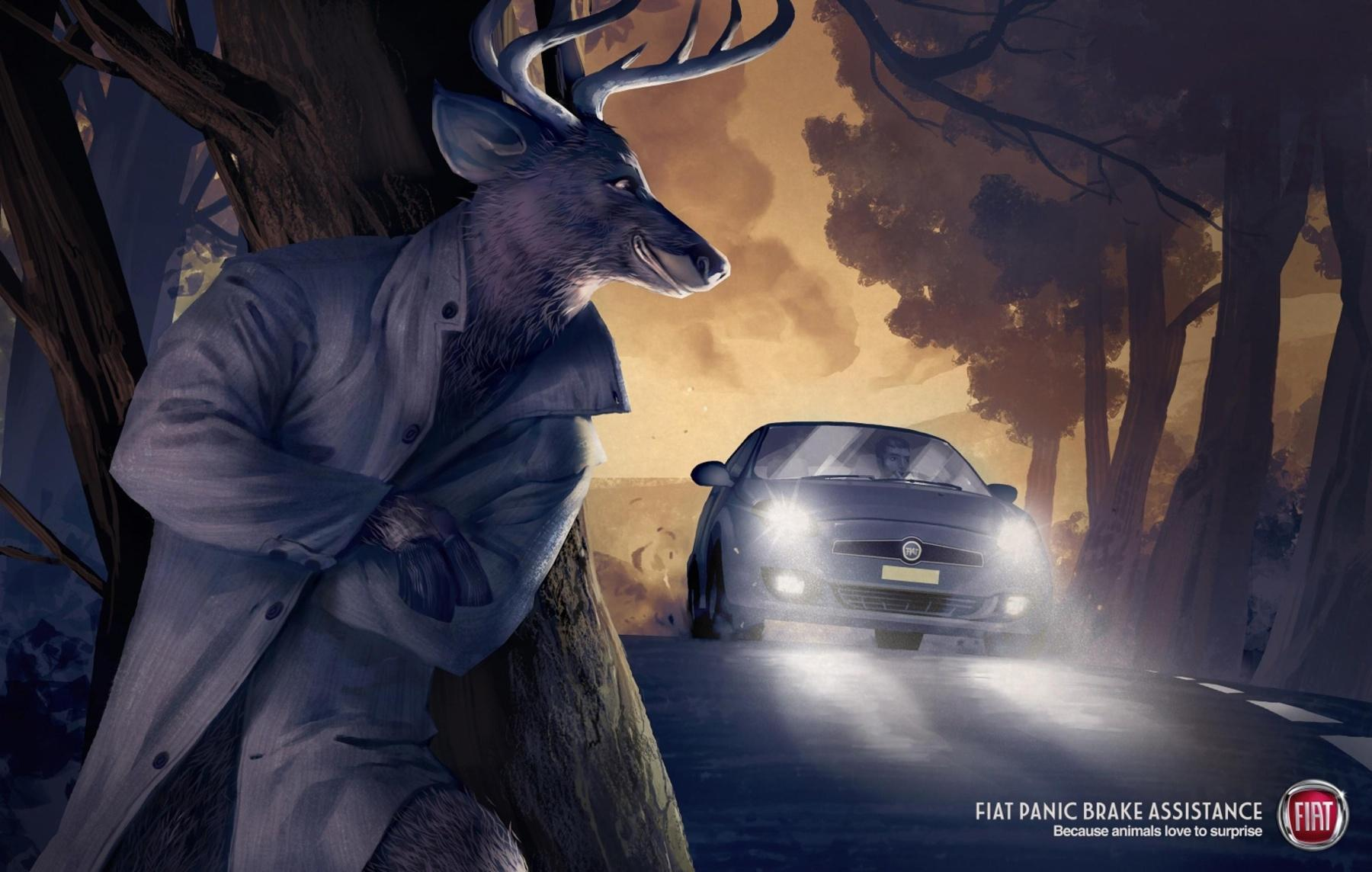 Fiat Print Ad -  Deer