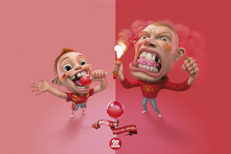 Dos en Uno Print Ad - Before and After - Hooligan