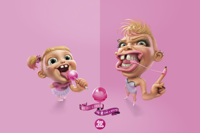 Dos en Uno Print Ad - Before and After - Rockstar