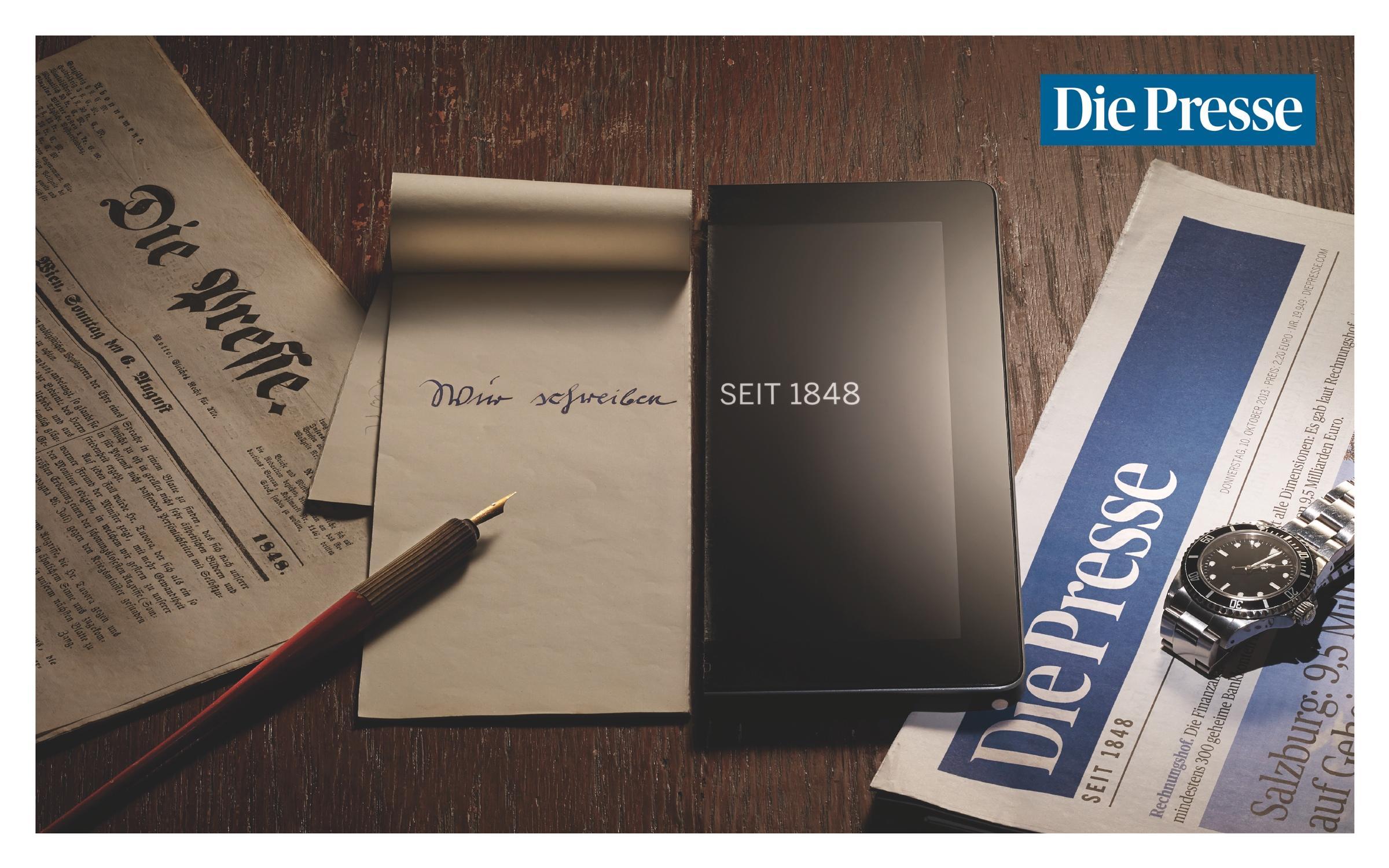 Die Presse Print Ad -  Tablet