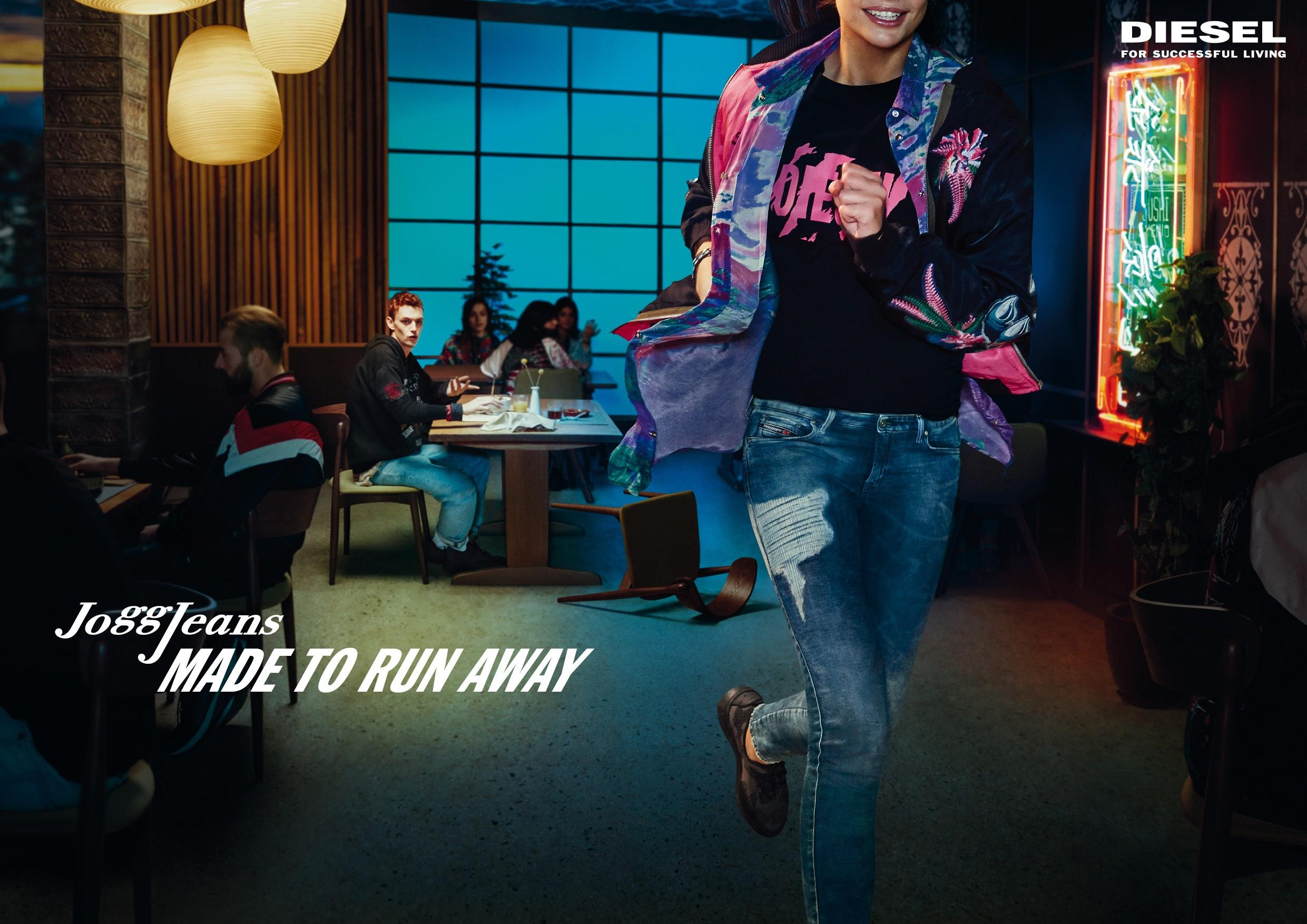 Diesel Print Ad - JoggJeans - Made To Run Away, Female