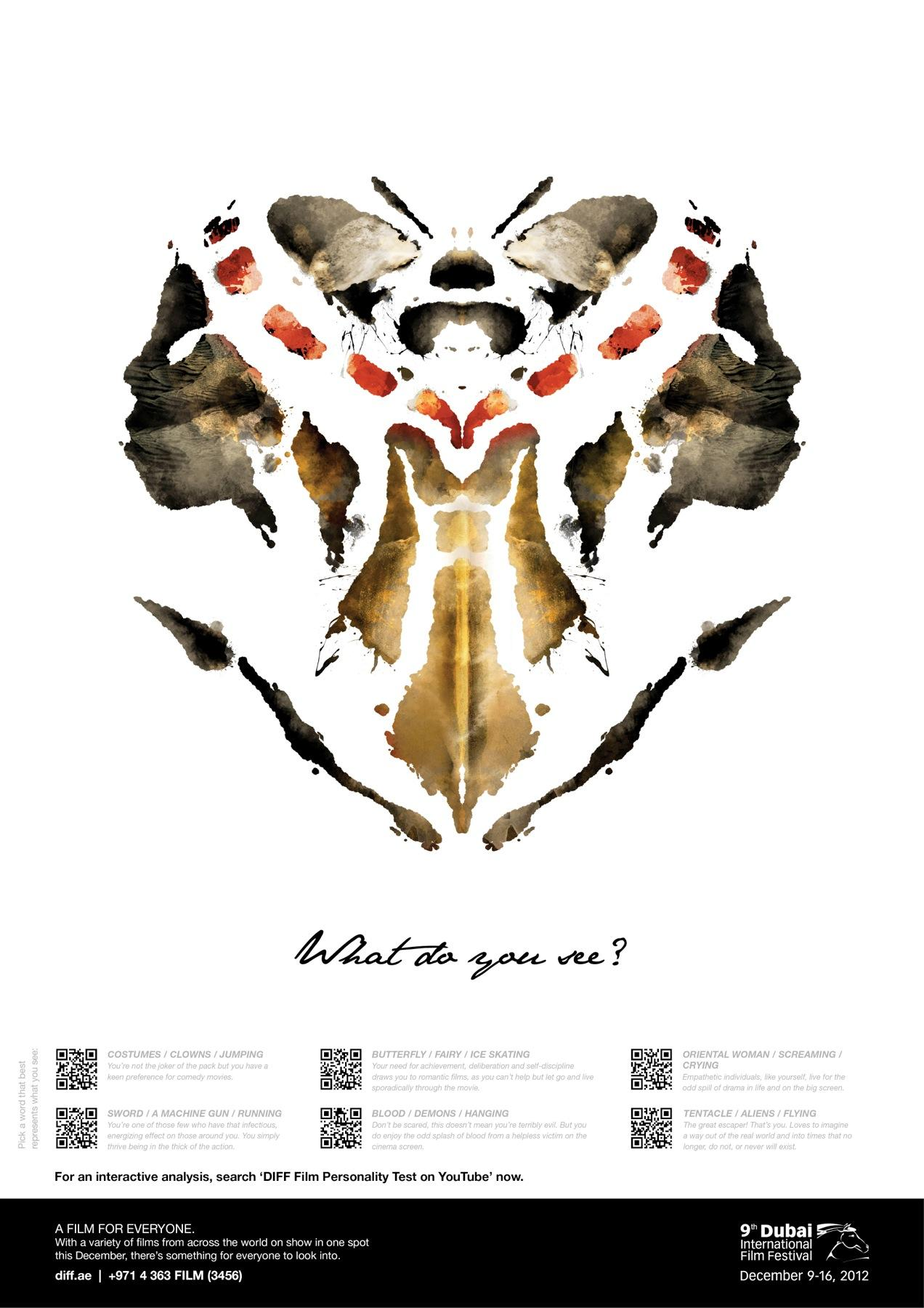 Dubai International Film Festival Outdoor Ad -  What do you see, 1