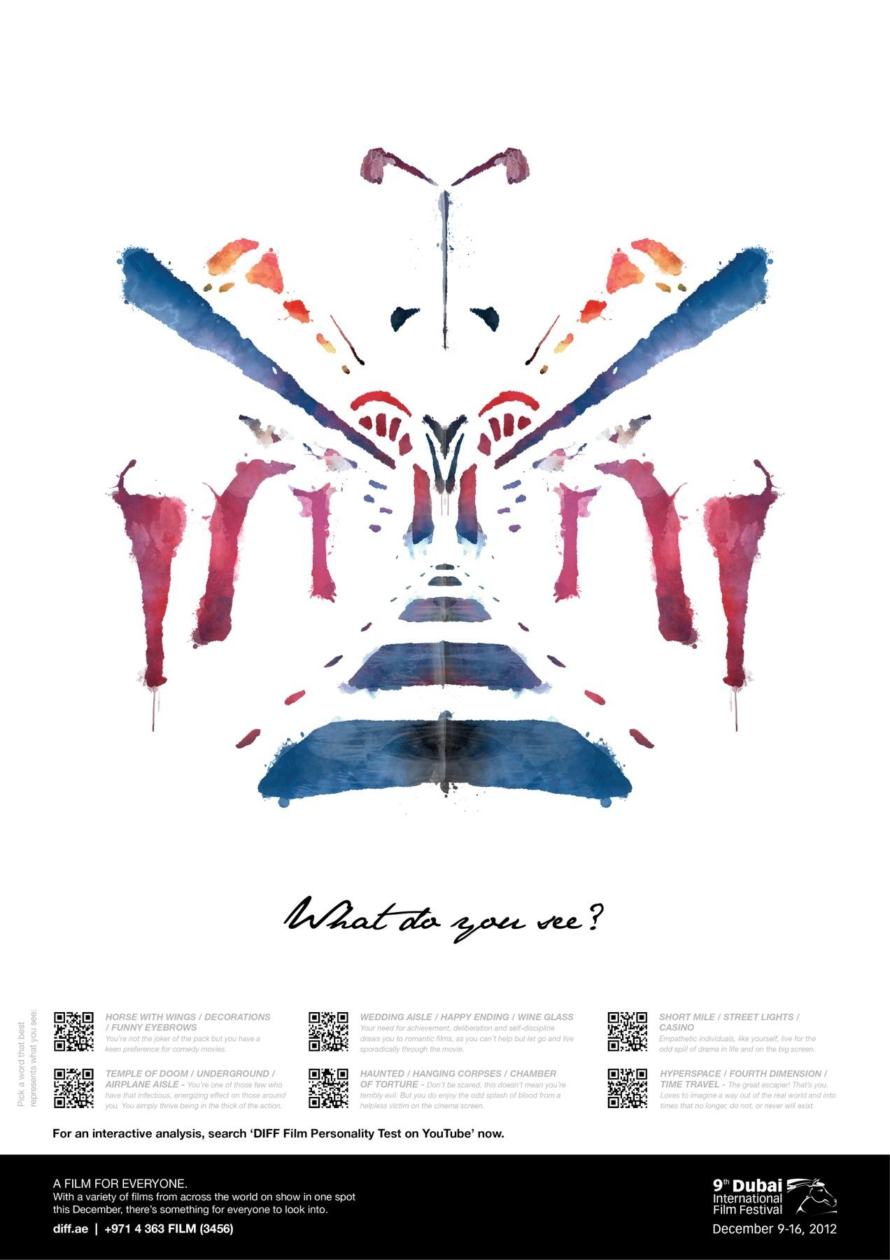 Dubai International Film Festival Outdoor Ad -  What do you see, 6