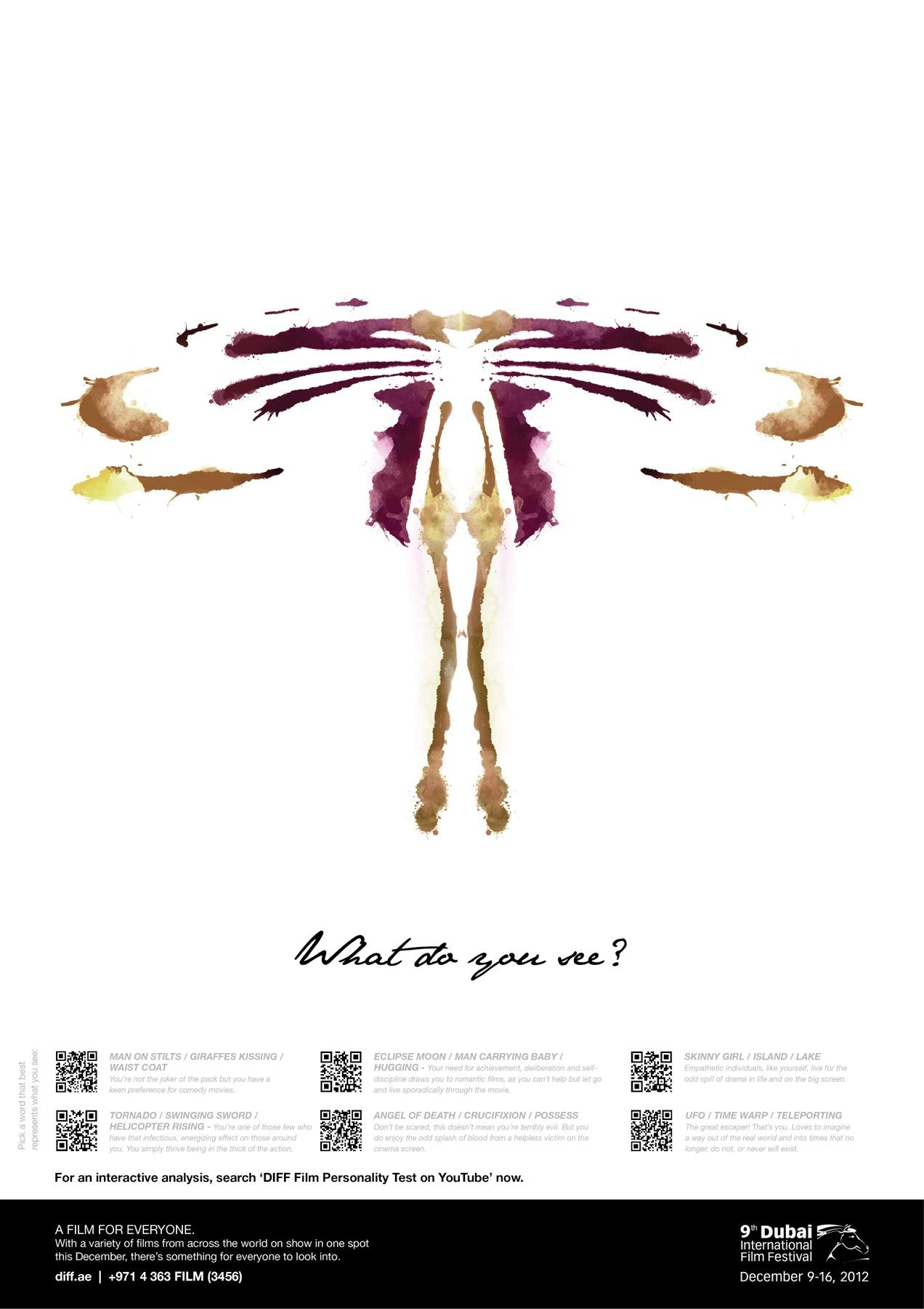 Dubai International Film Festival Outdoor Ad -  What do you see, 8
